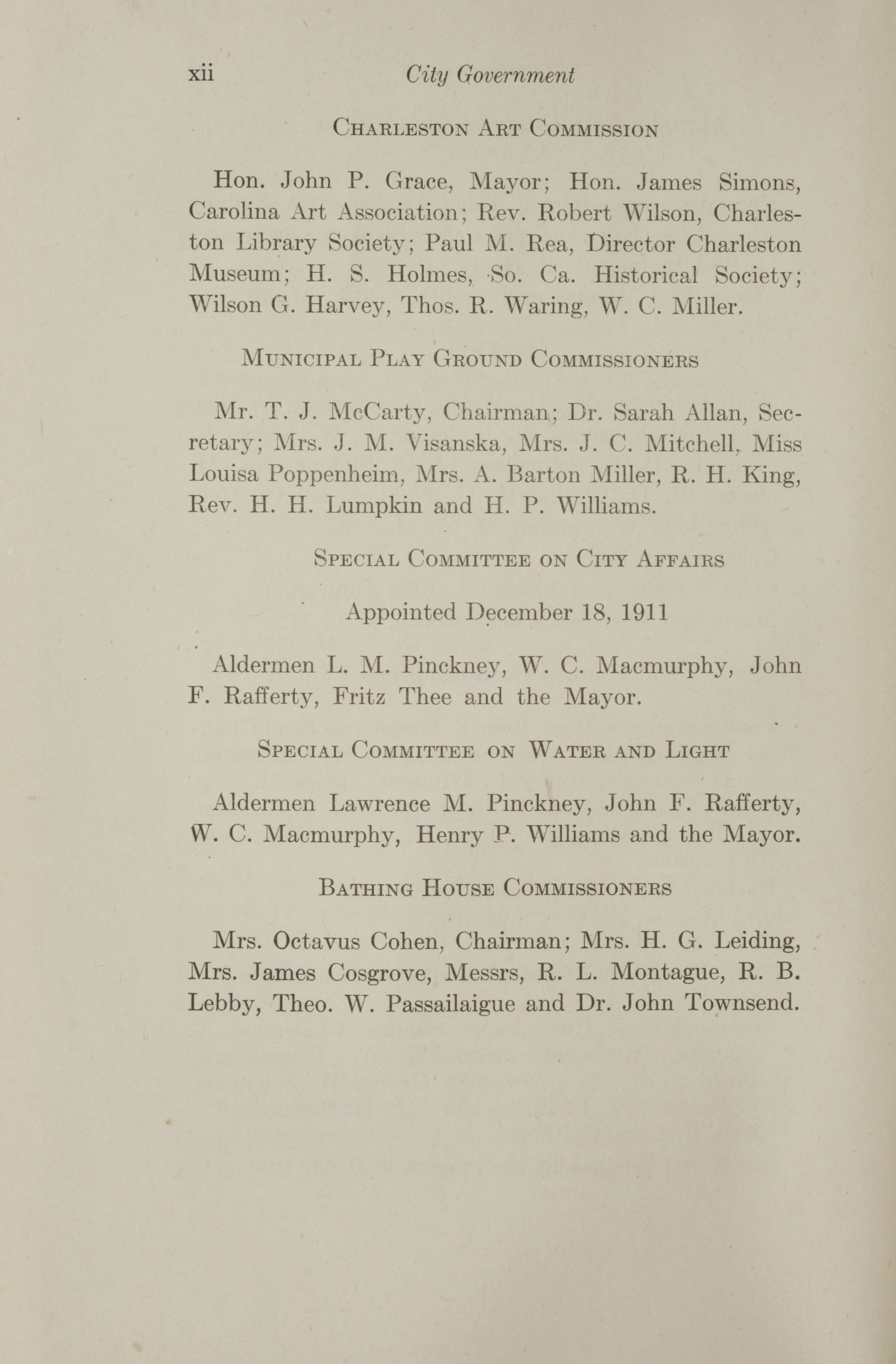 Charleston Yearbook, 1912, page xii