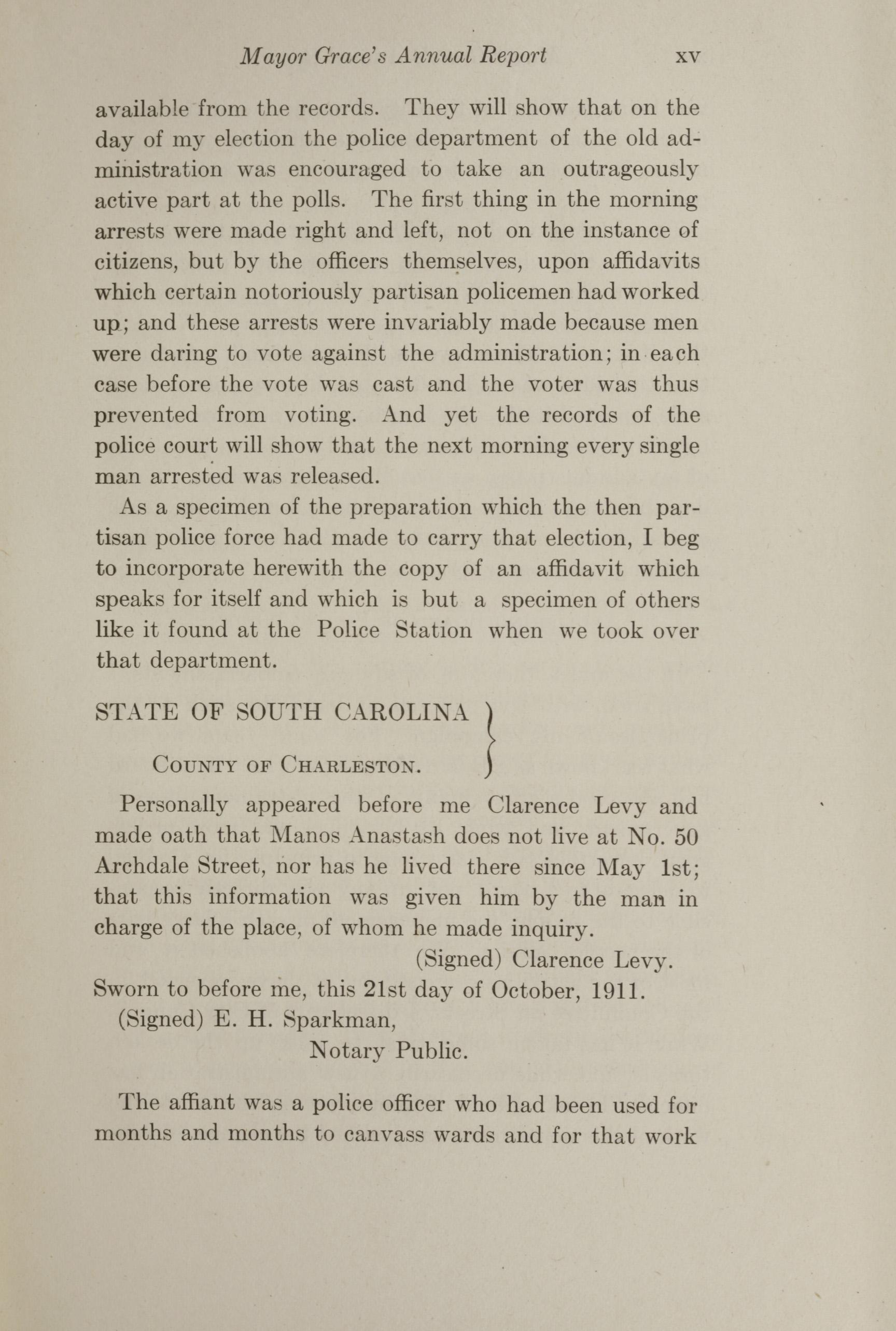 Charleston Yearbook, 1912, page xv