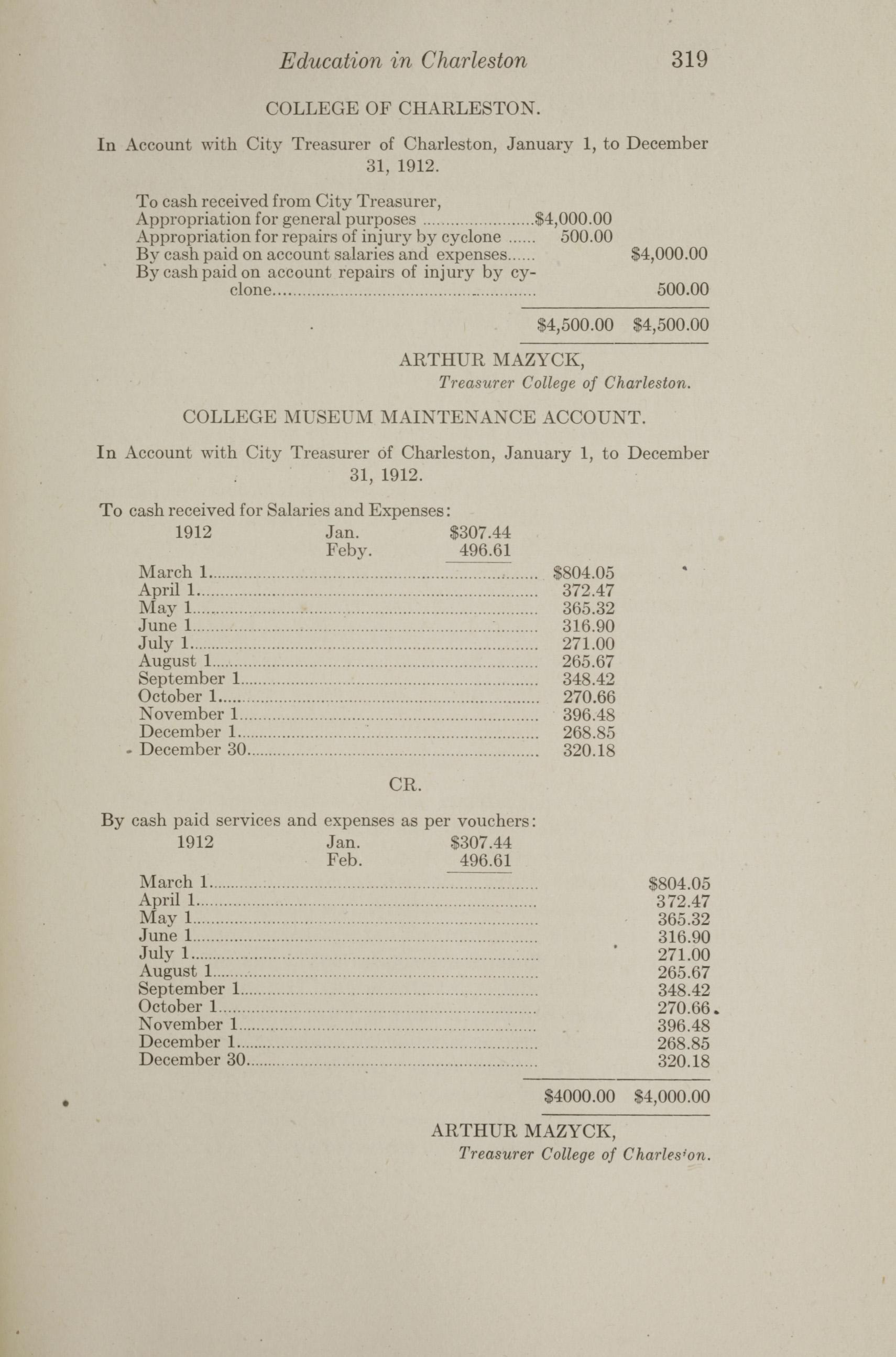 Charleston Yearbook, 1912, page 319