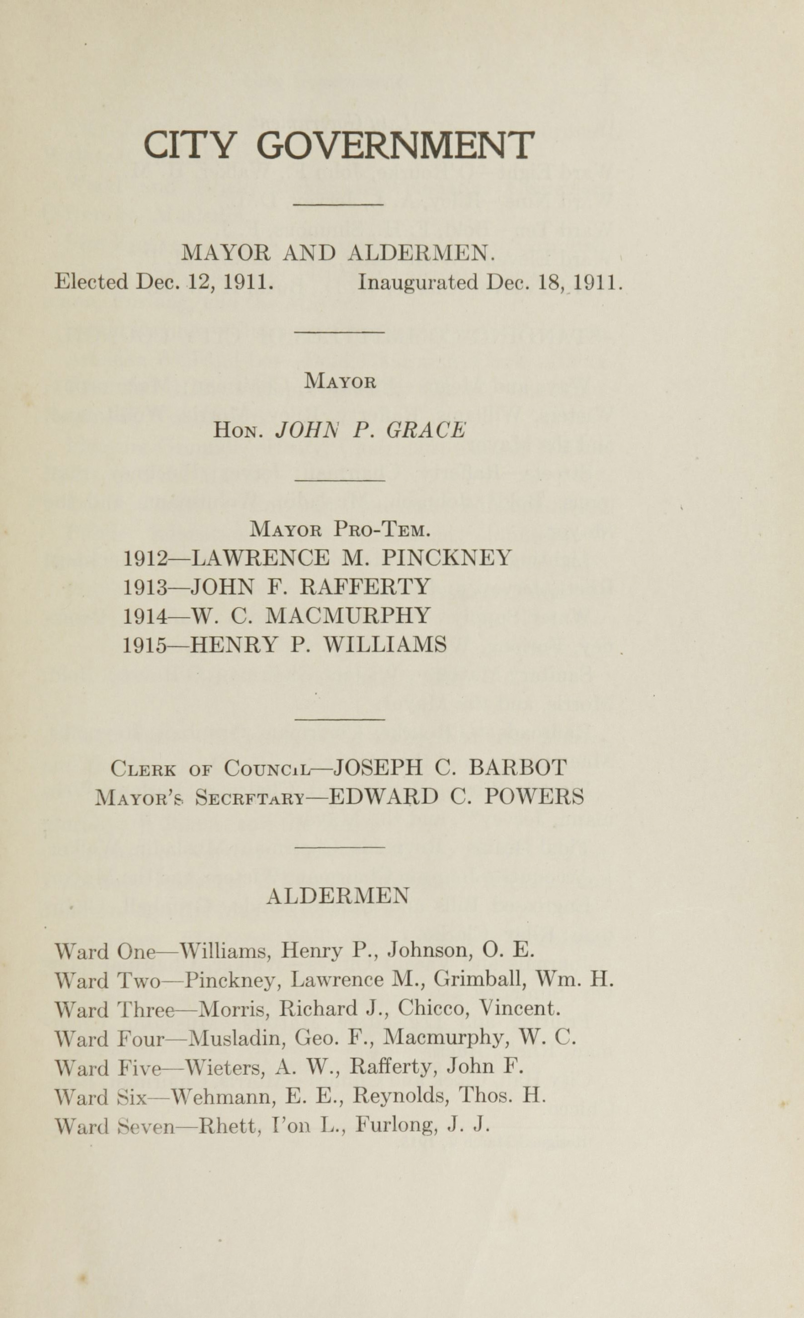 Charleston Yearbook, 1915, page iii