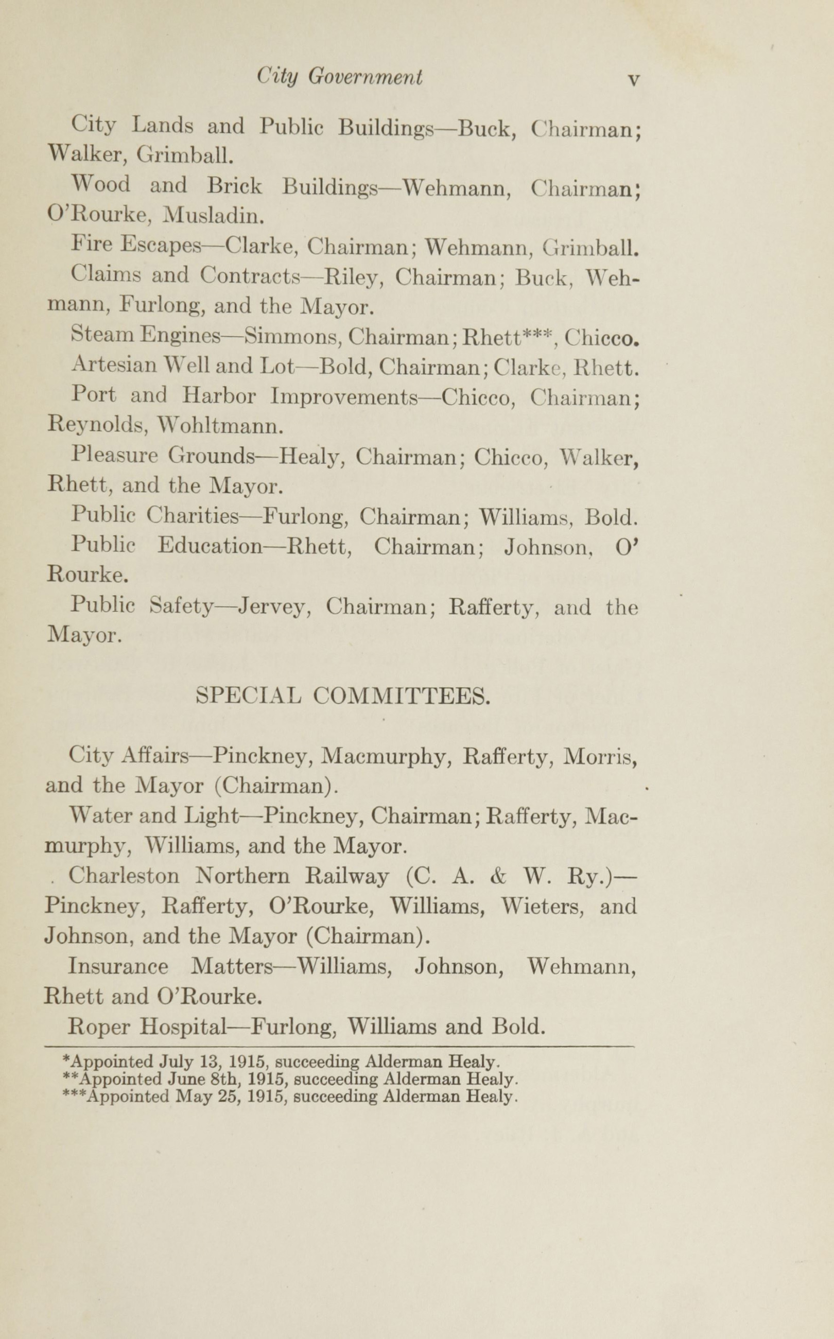 Charleston Yearbook, 1915, page v