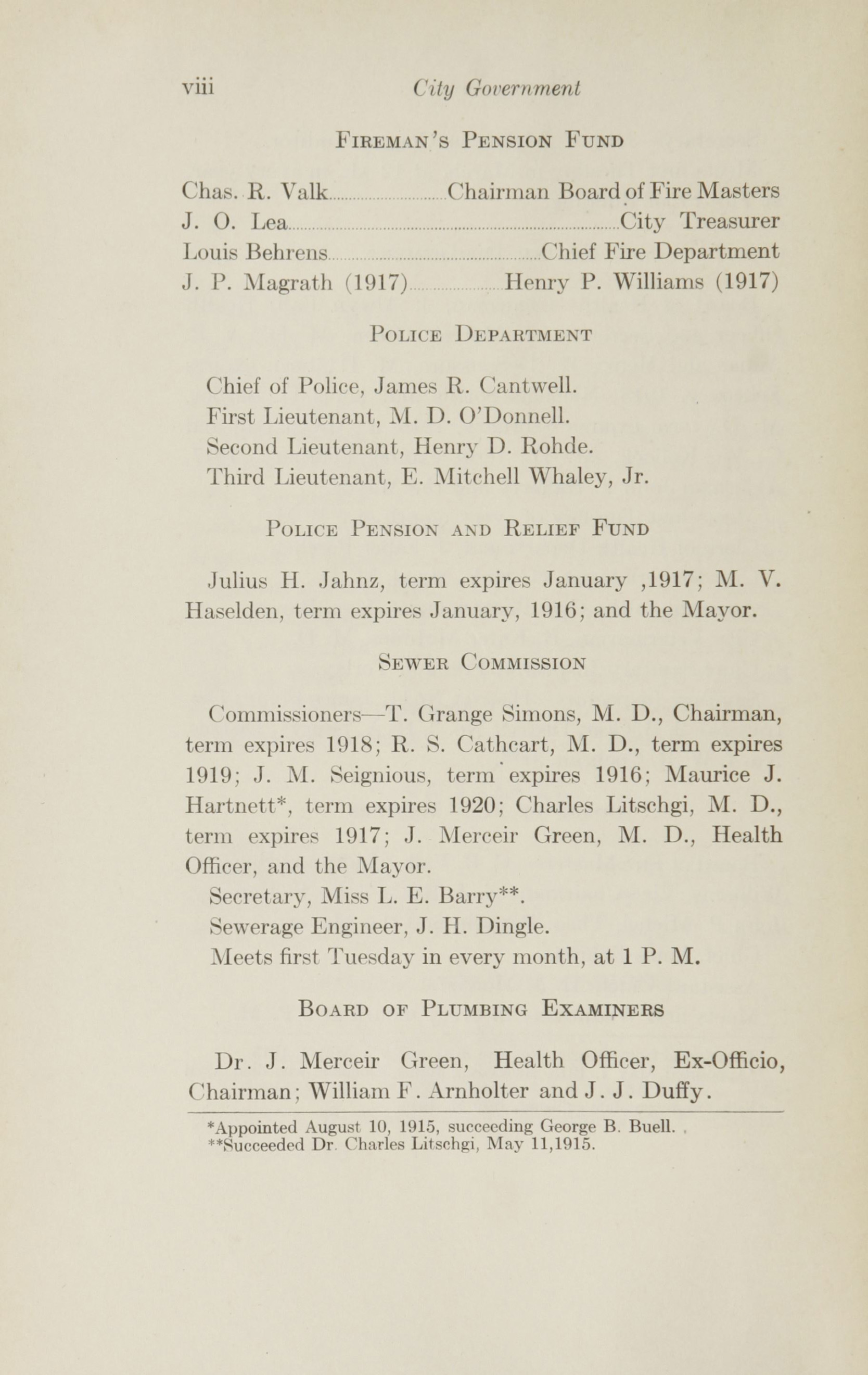 Charleston Yearbook, 1915, page viii