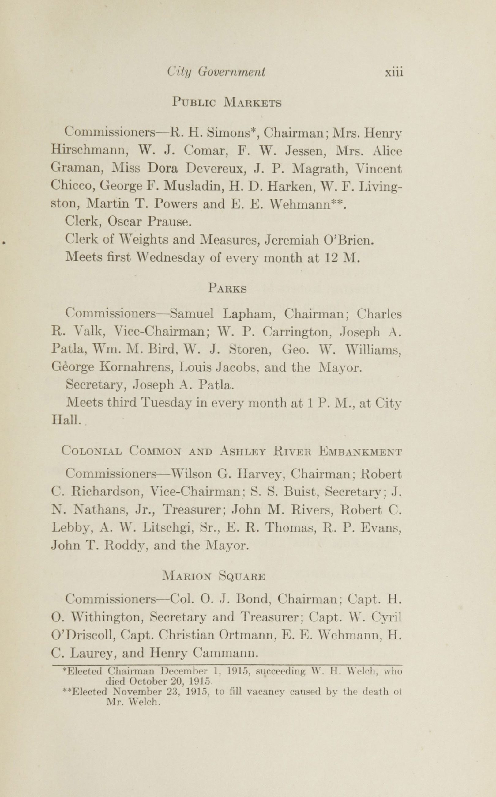 Charleston Yearbook, 1915, page xiii