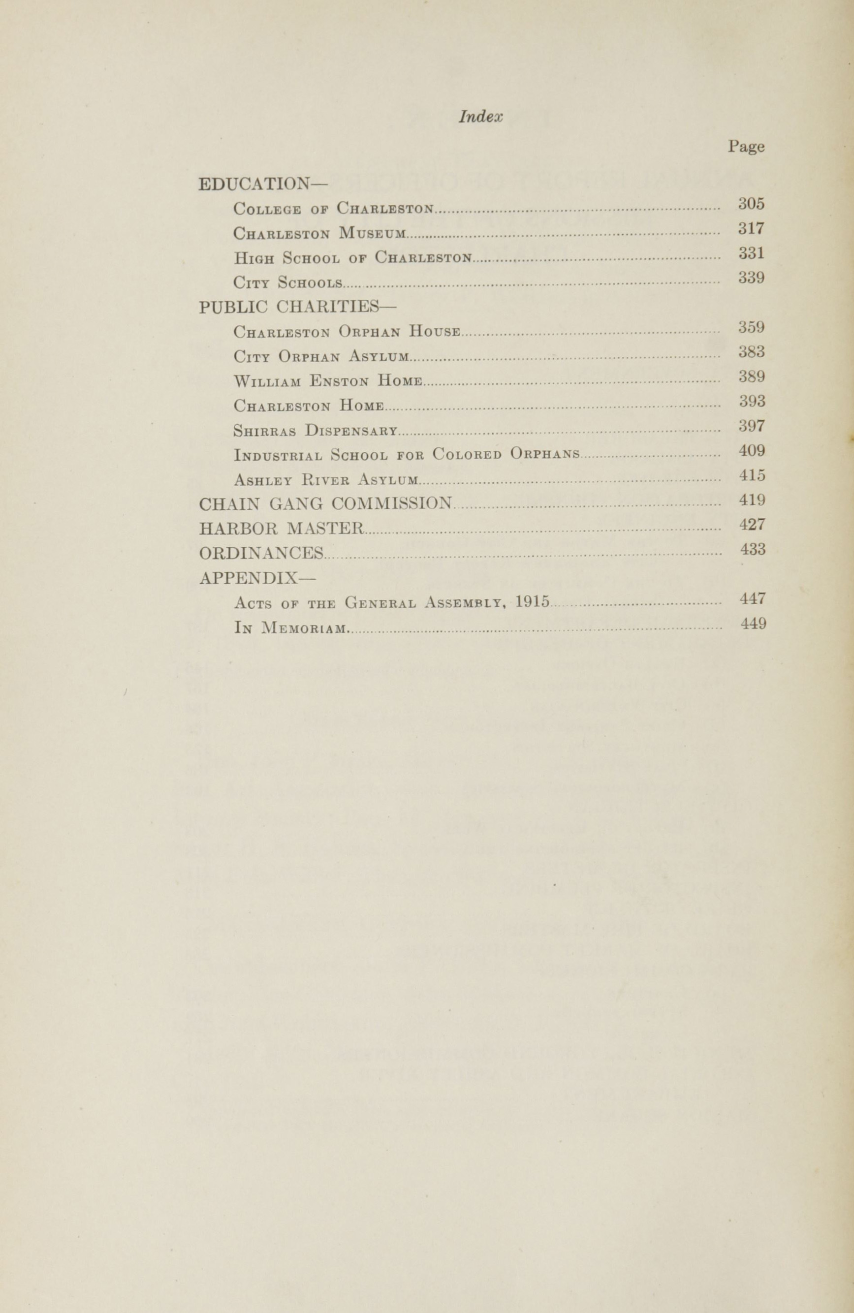 Charleston Yearbook, 1915, page xvi