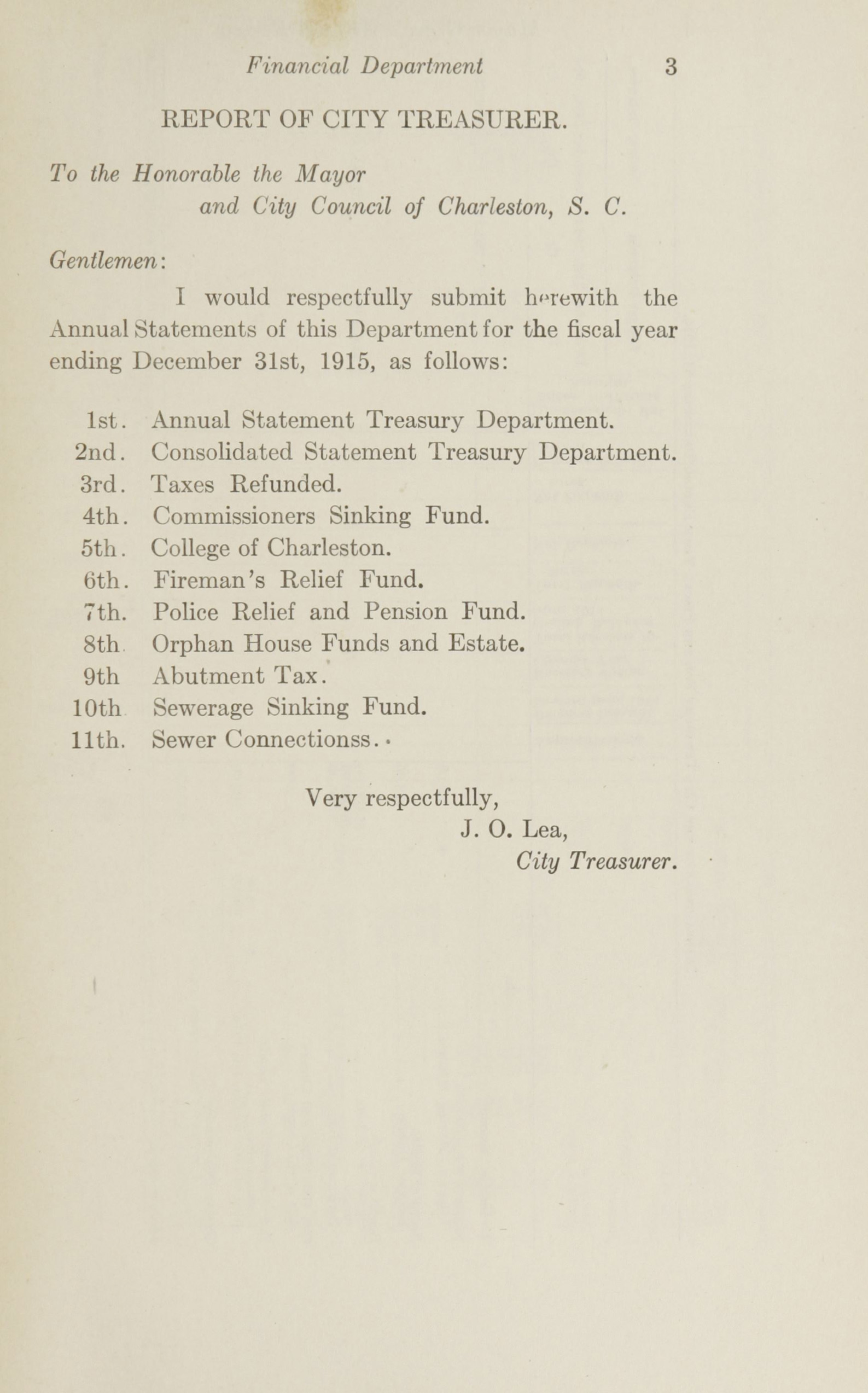 Charleston Yearbook, 1915, page 3