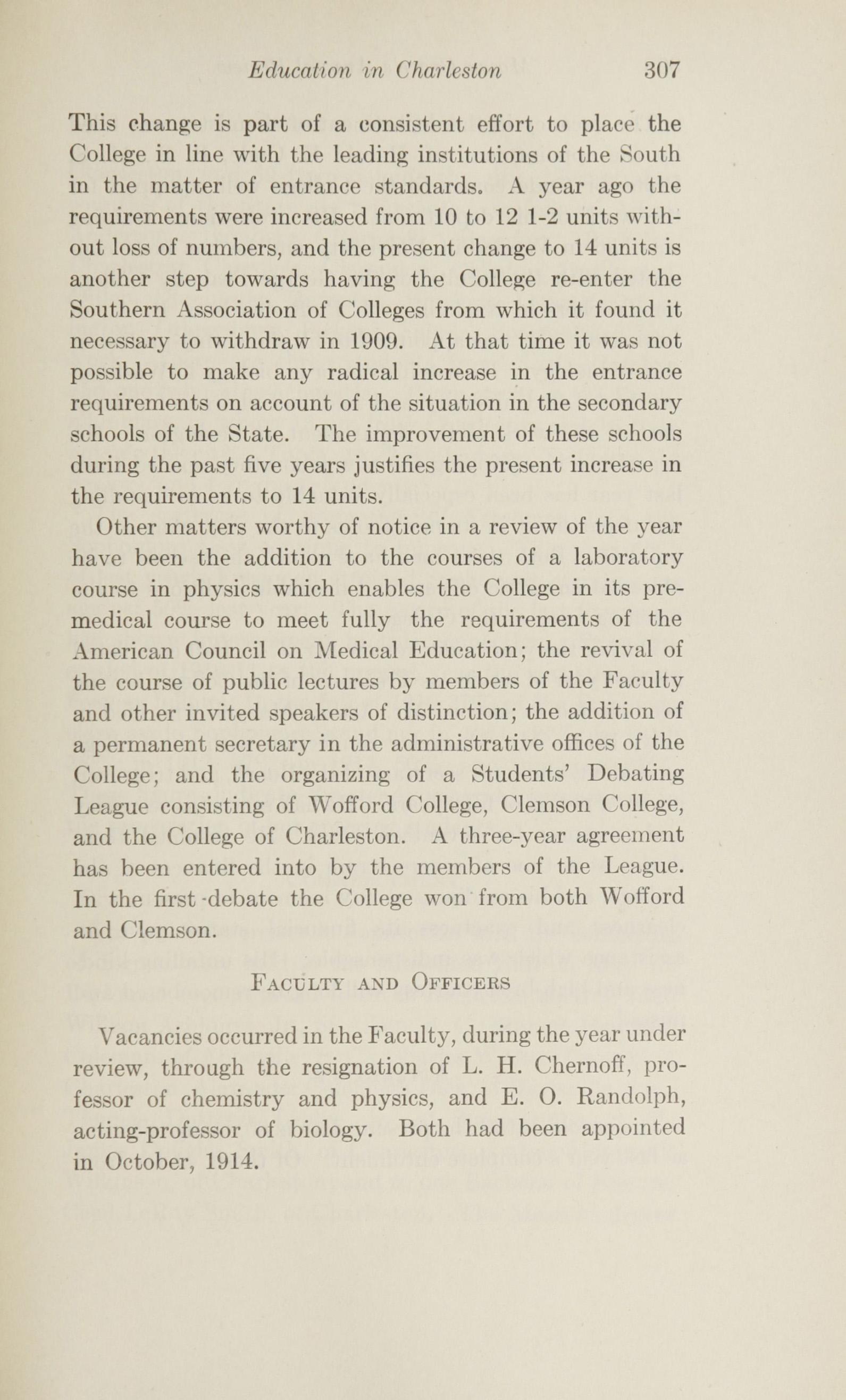 Charleston Yearbook, 1915, page 307