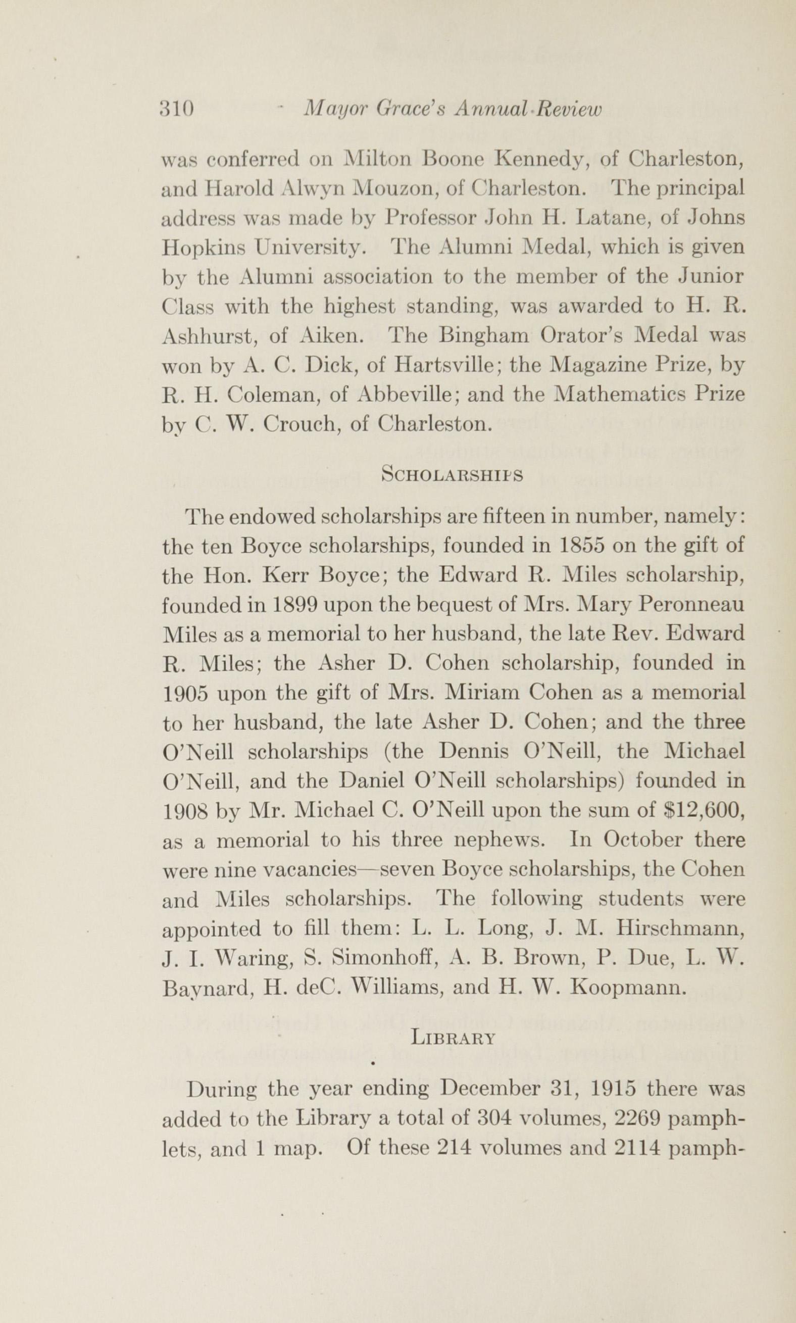 Charleston Yearbook, 1915, page 310