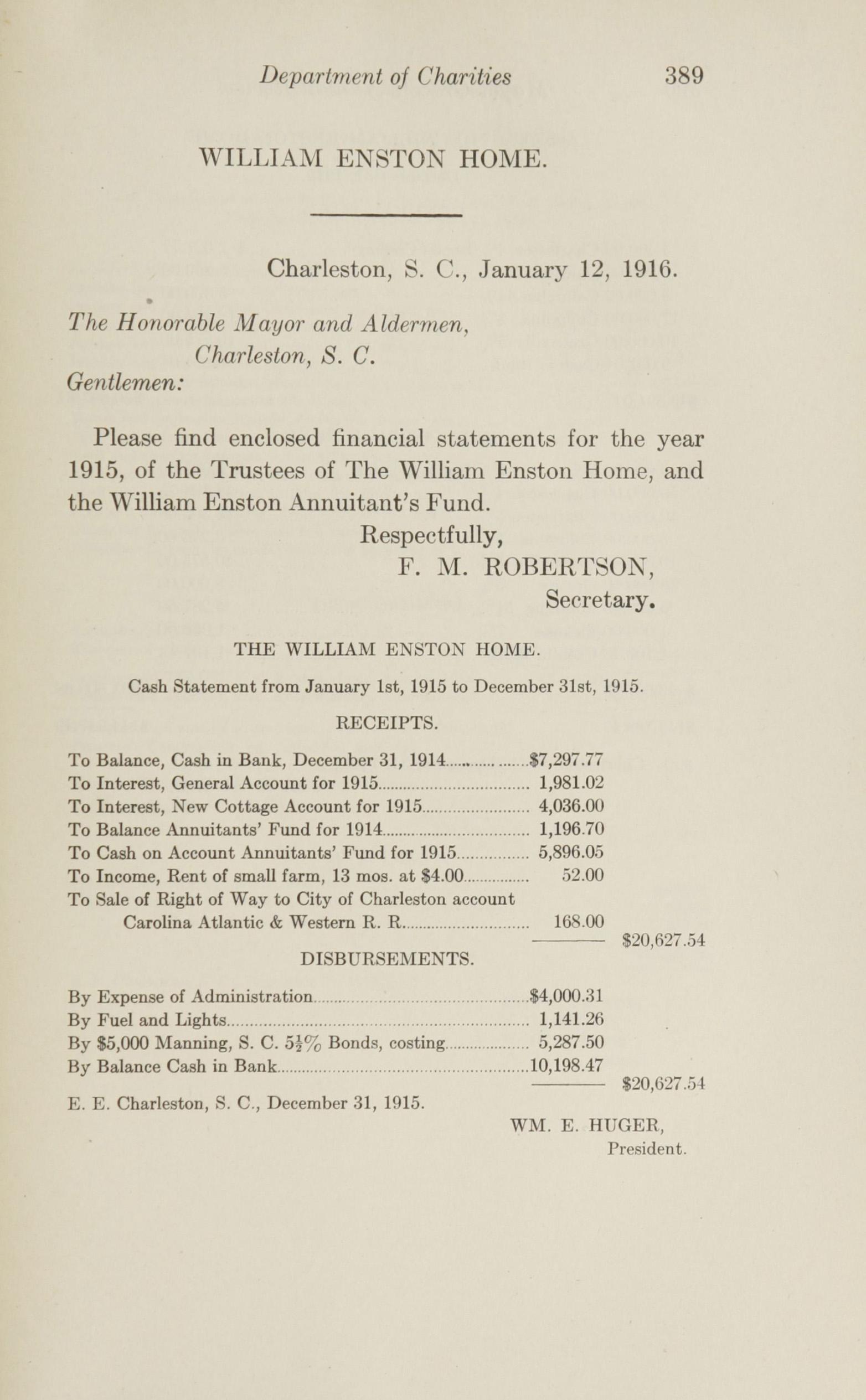 Charleston Yearbook, 1915, page 389