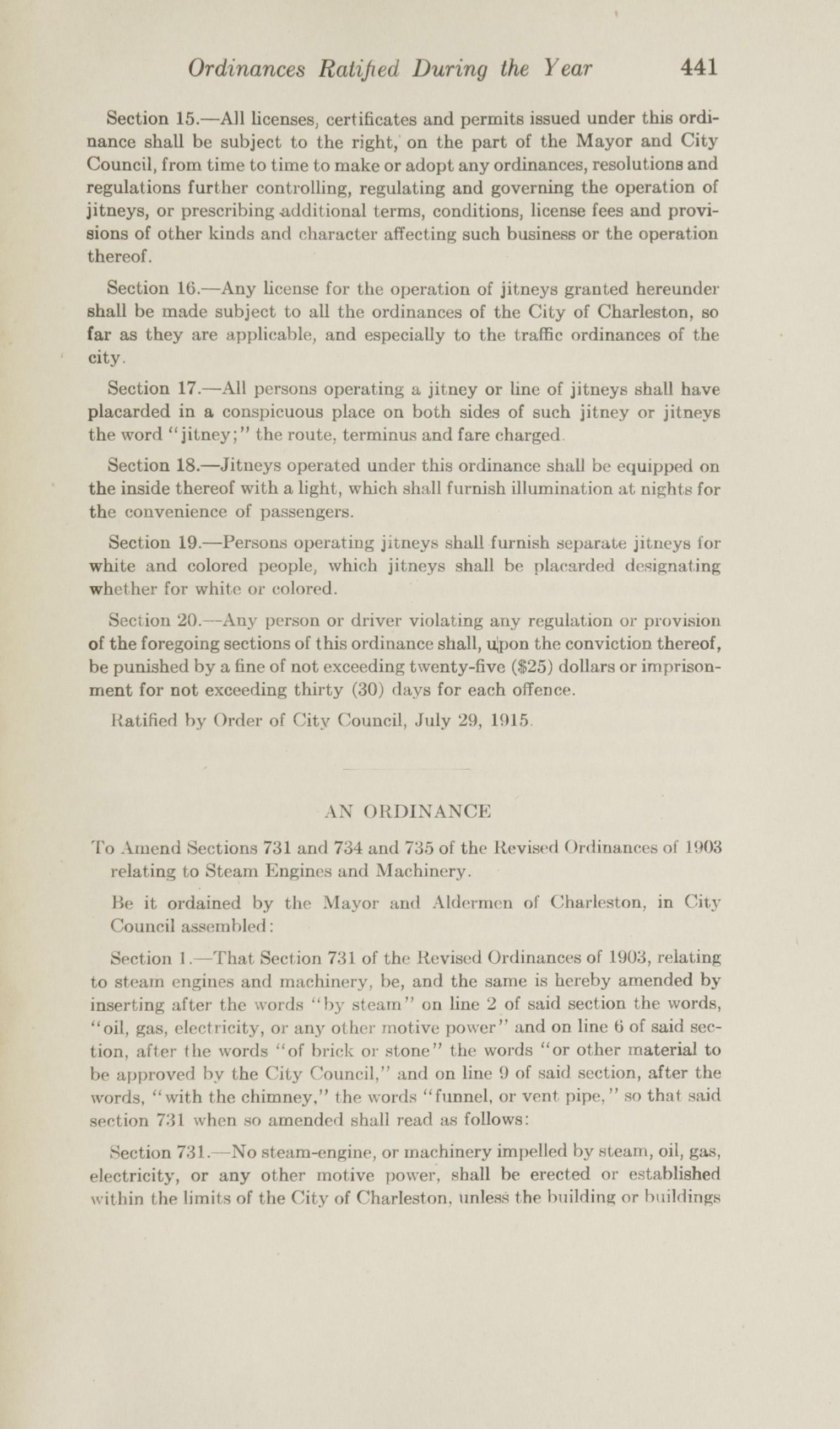 Charleston Yearbook, 1915, page 441