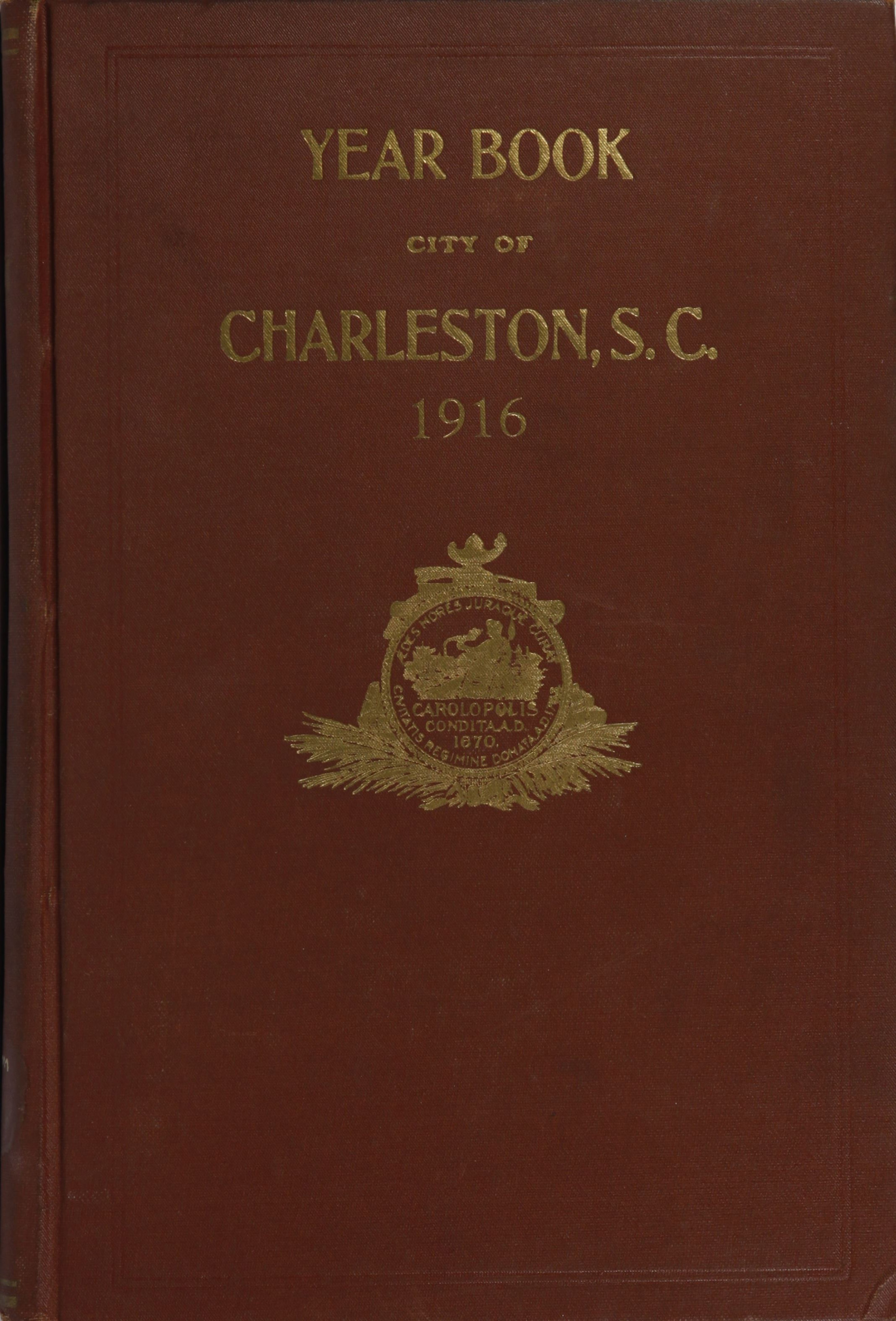 Charleston Yearbook, 1916, cover