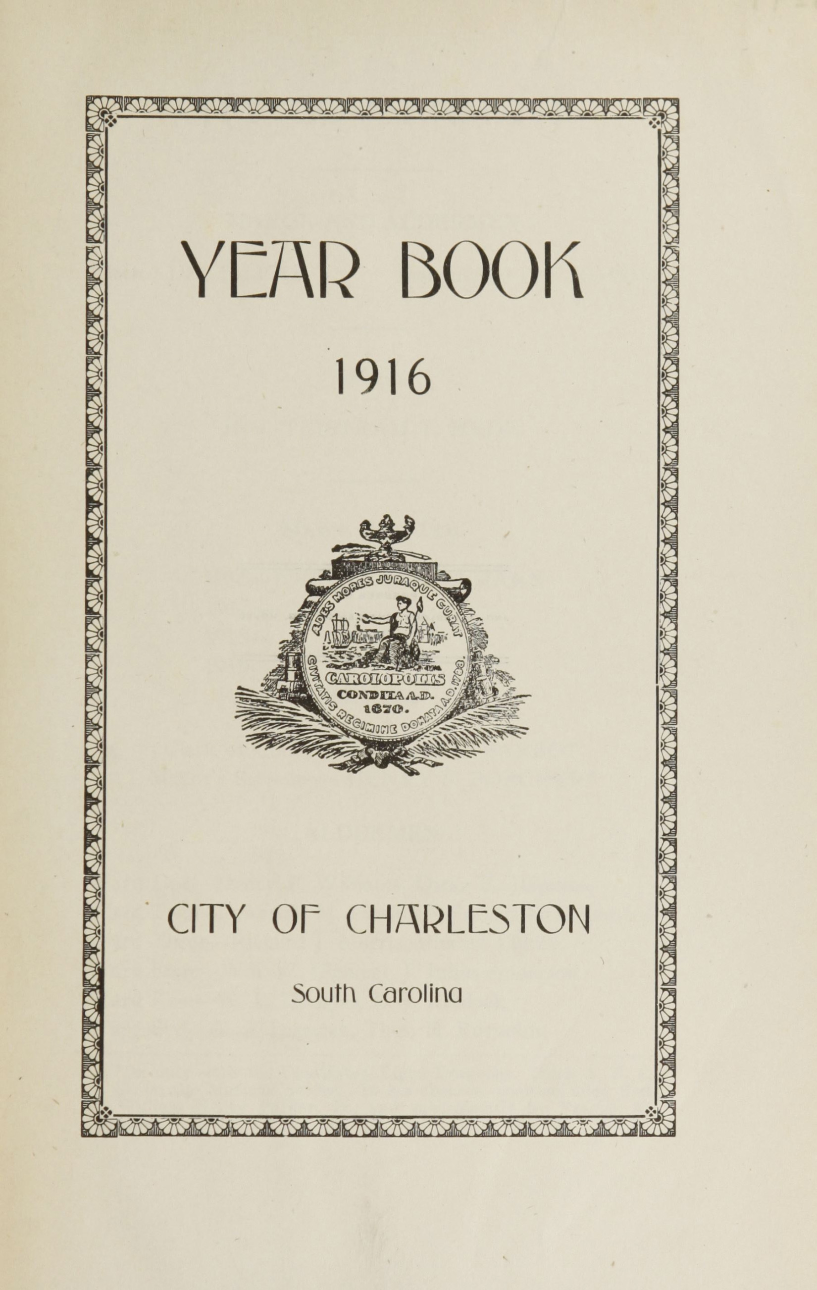Charleston Yearbook, 1916, page i