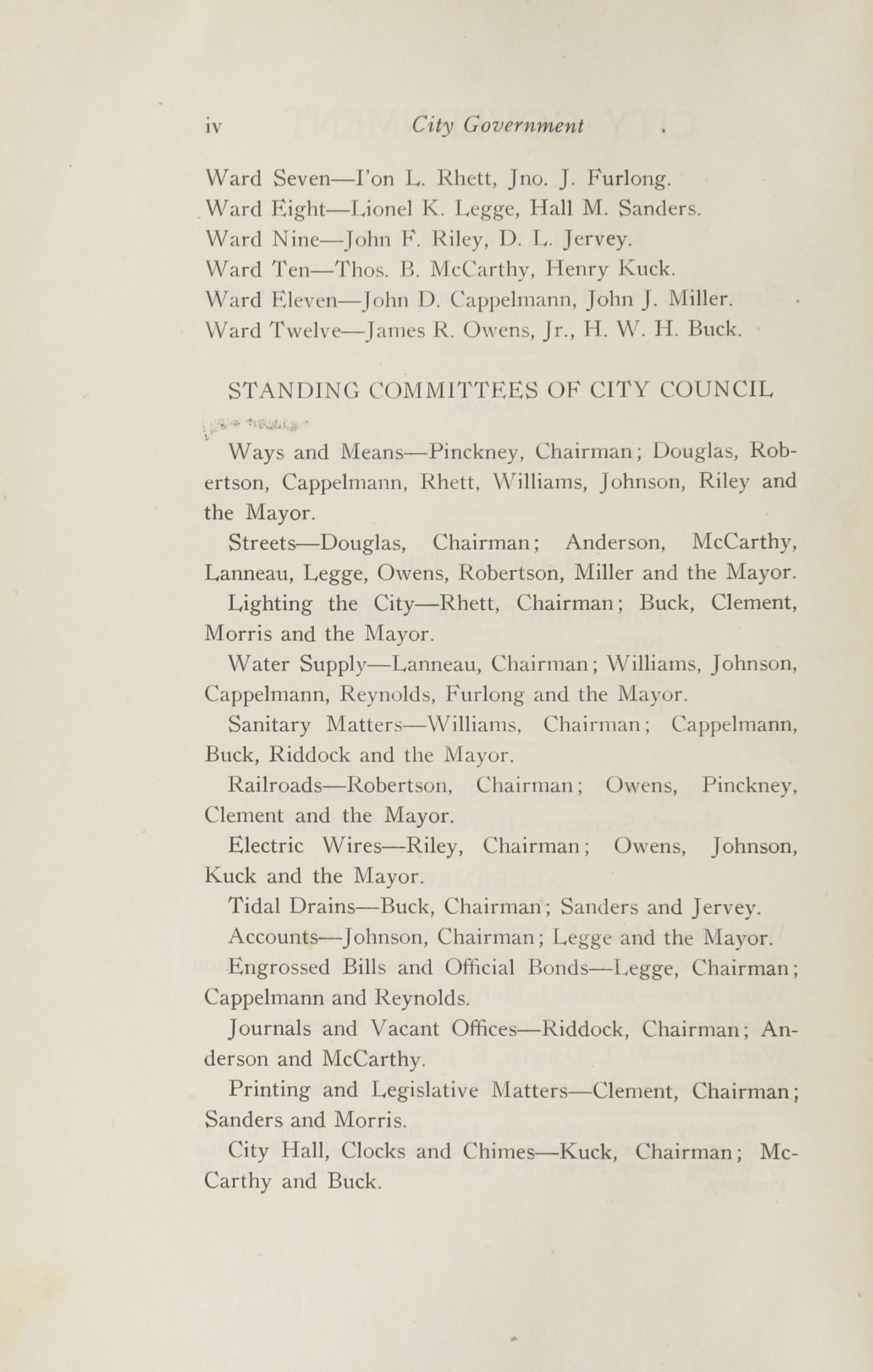 Charleston Yearbook, 1916, page iv