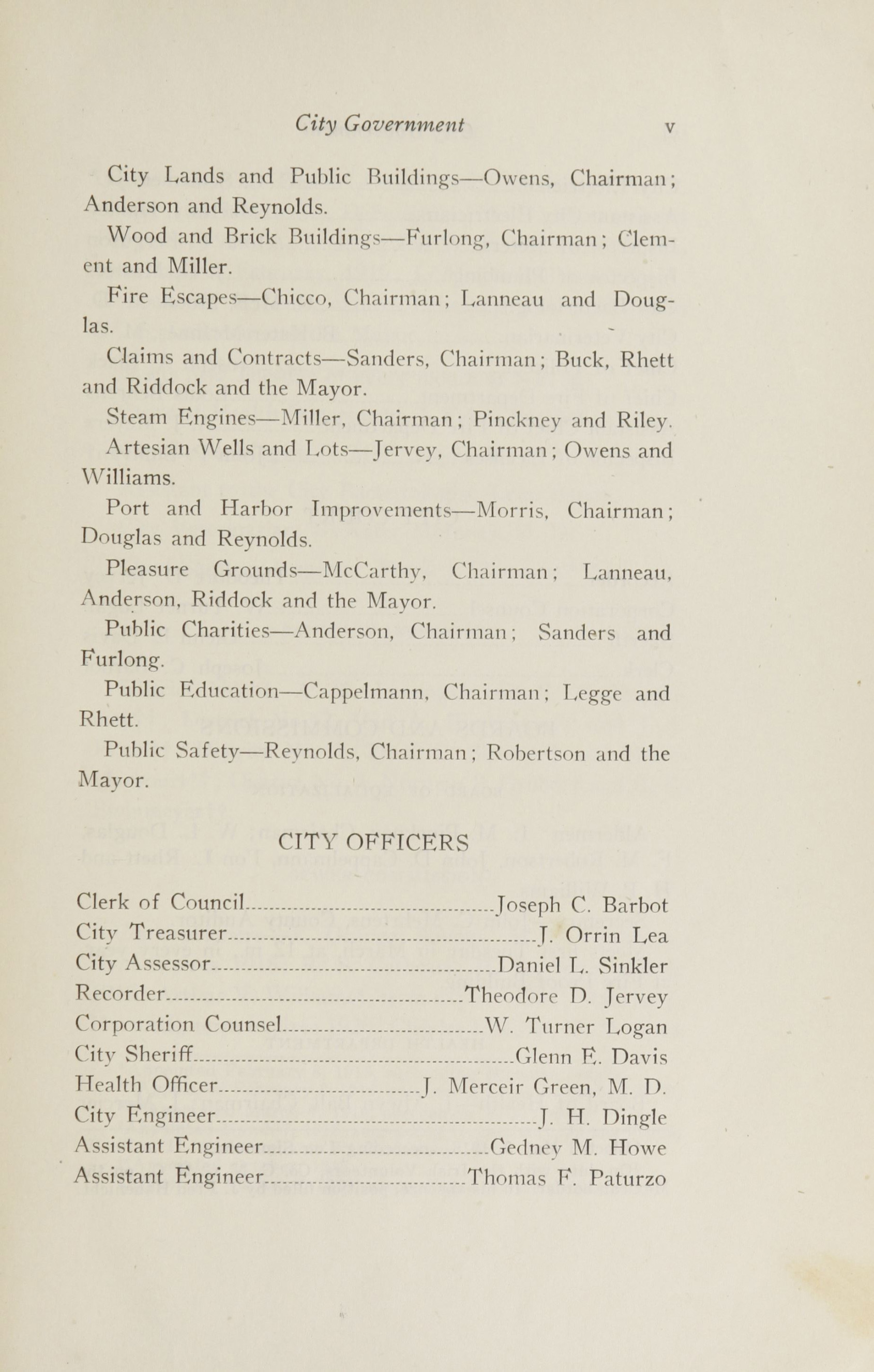 Charleston Yearbook, 1916, page v