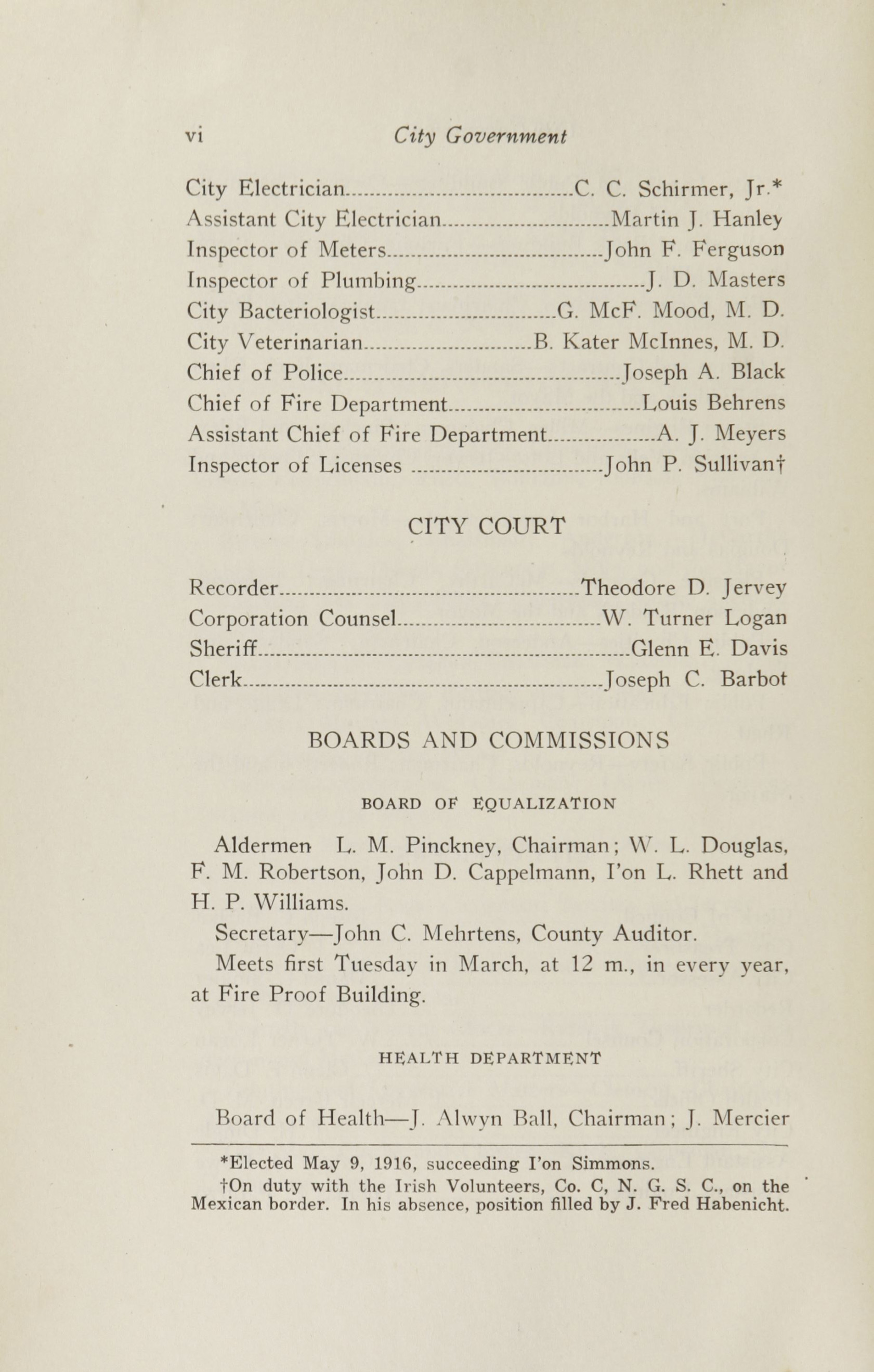 Charleston Yearbook, 1916, page vi