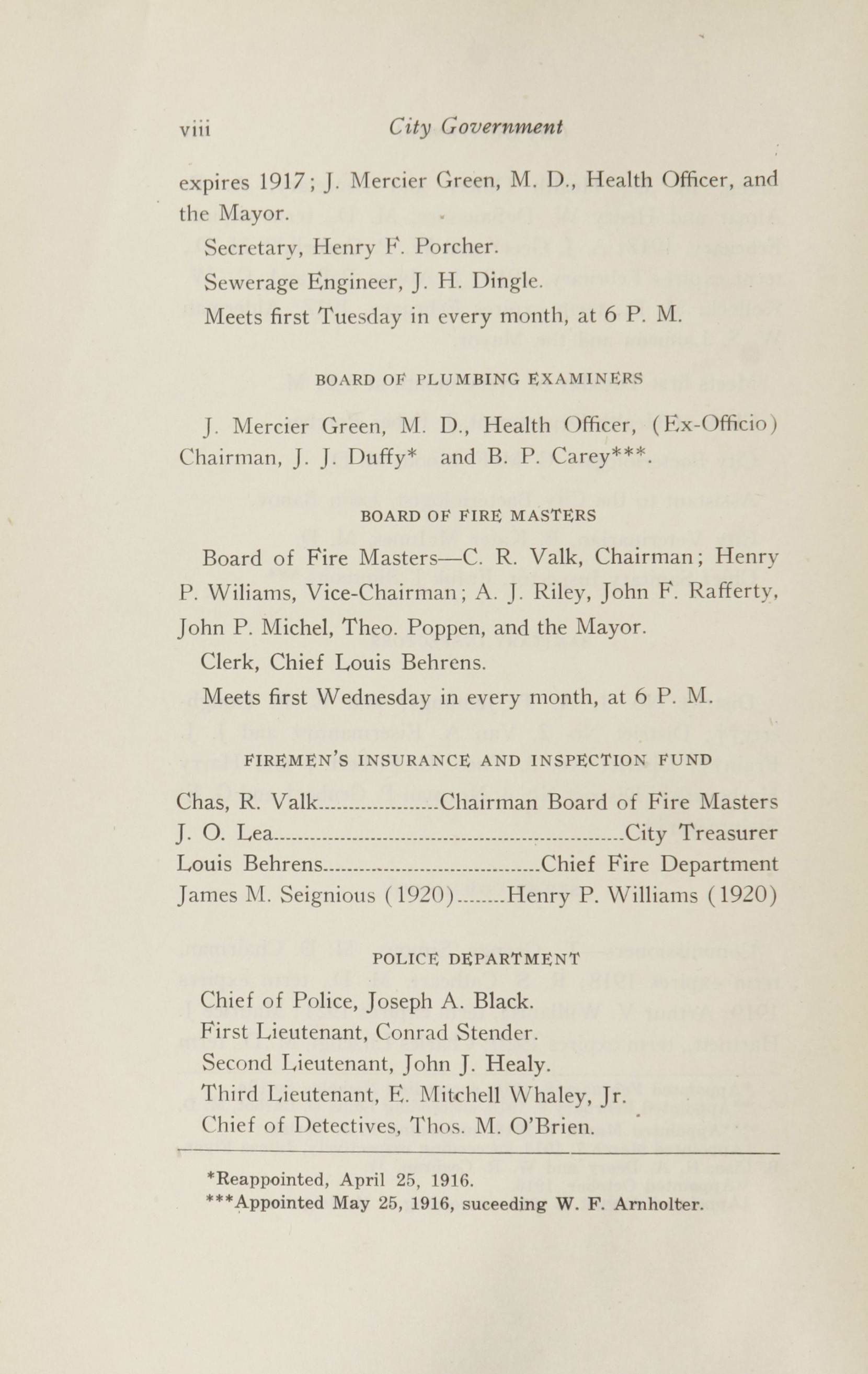 Charleston Yearbook, 1916, page viii