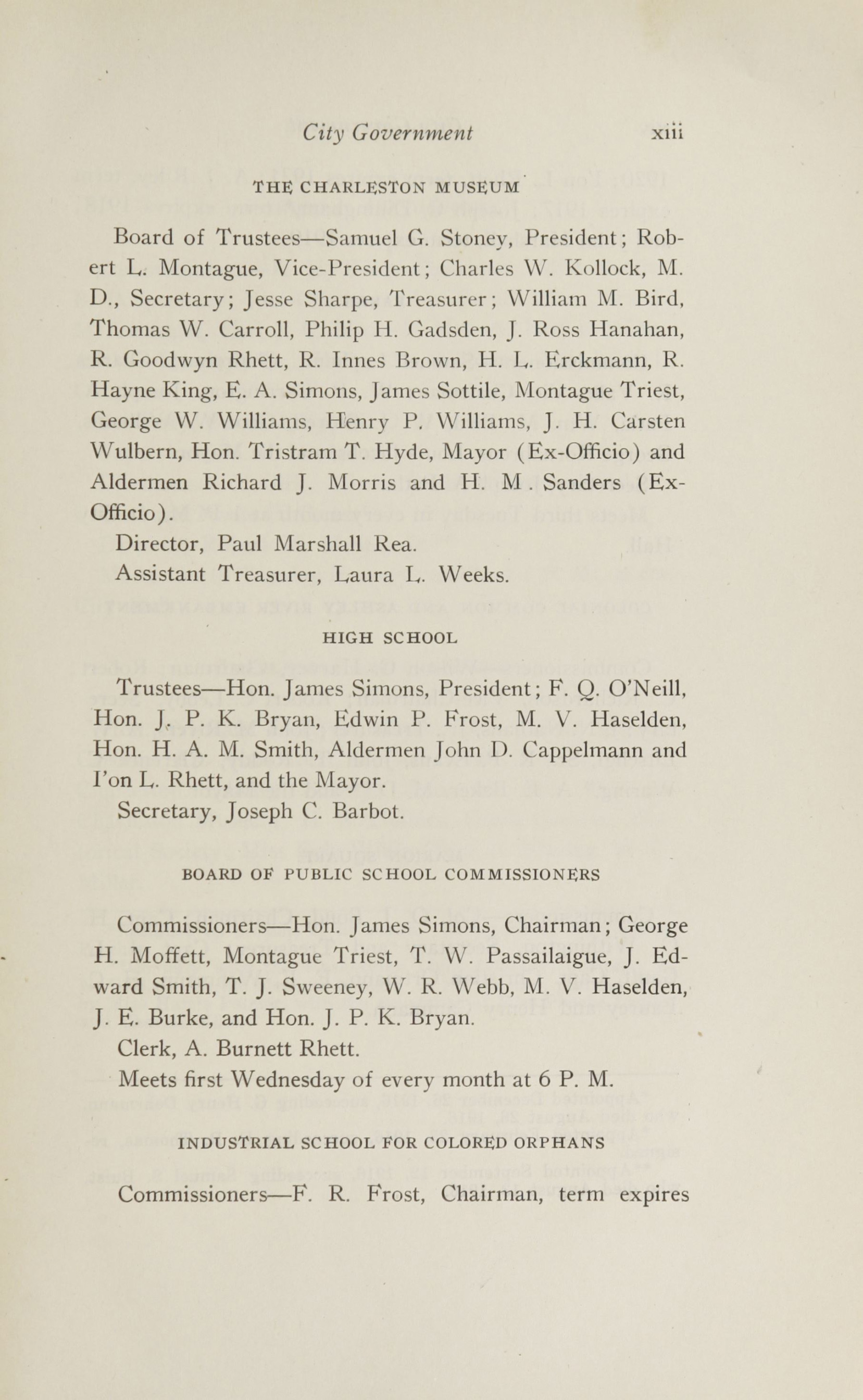 Charleston Yearbook, 1916, page xiii