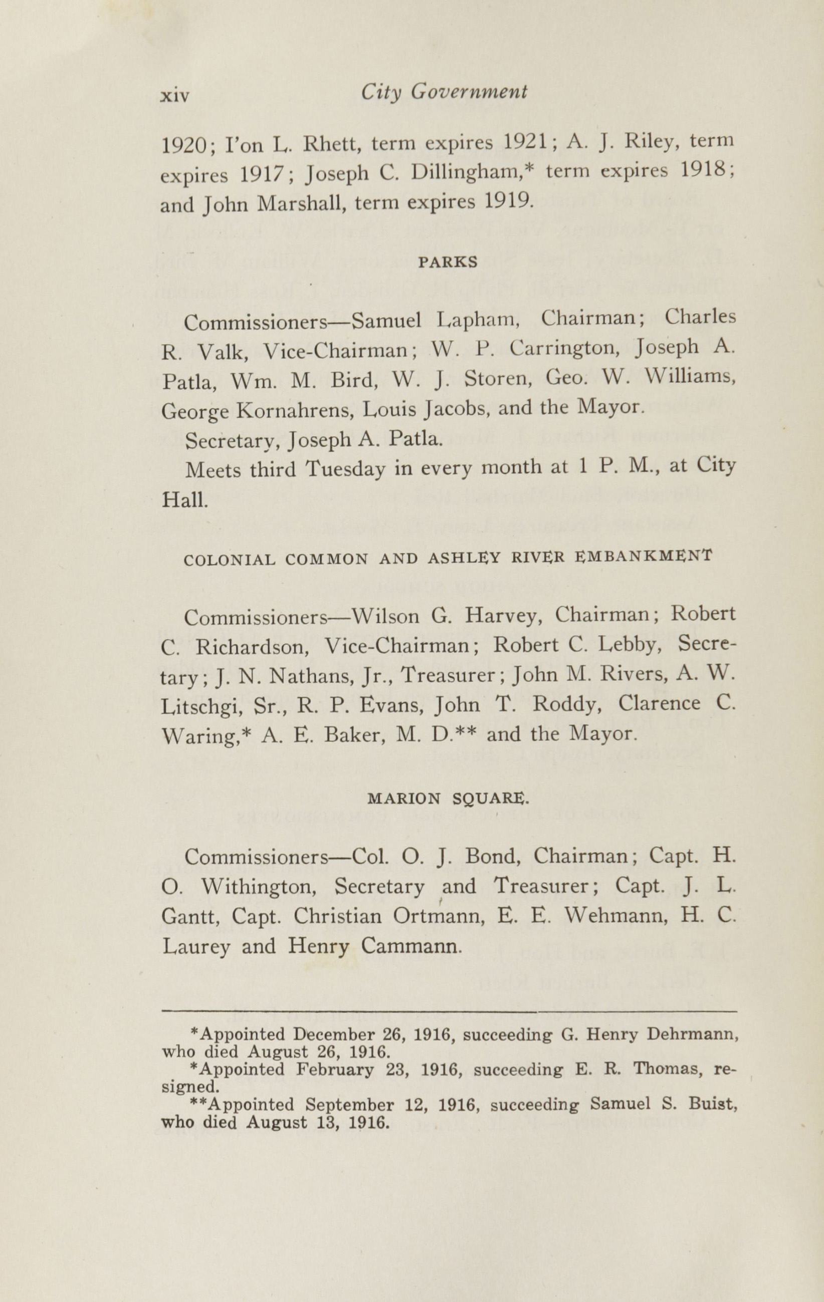 Charleston Yearbook, 1916, page xiv