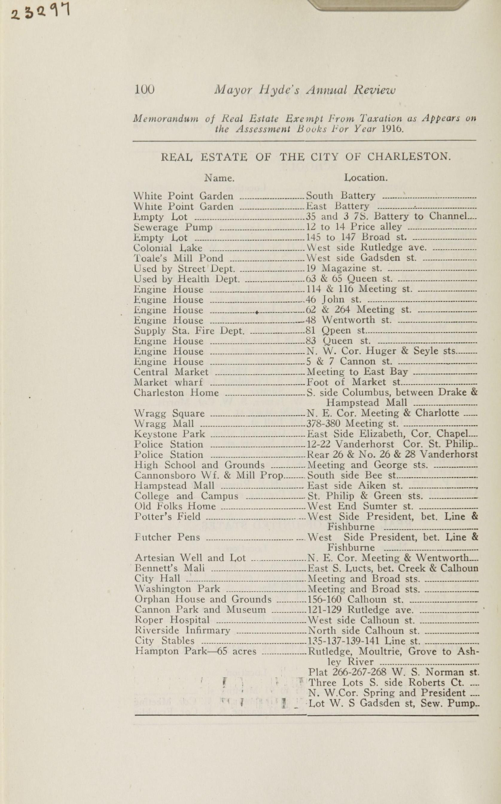 Charleston Yearbook, 1916, page 100