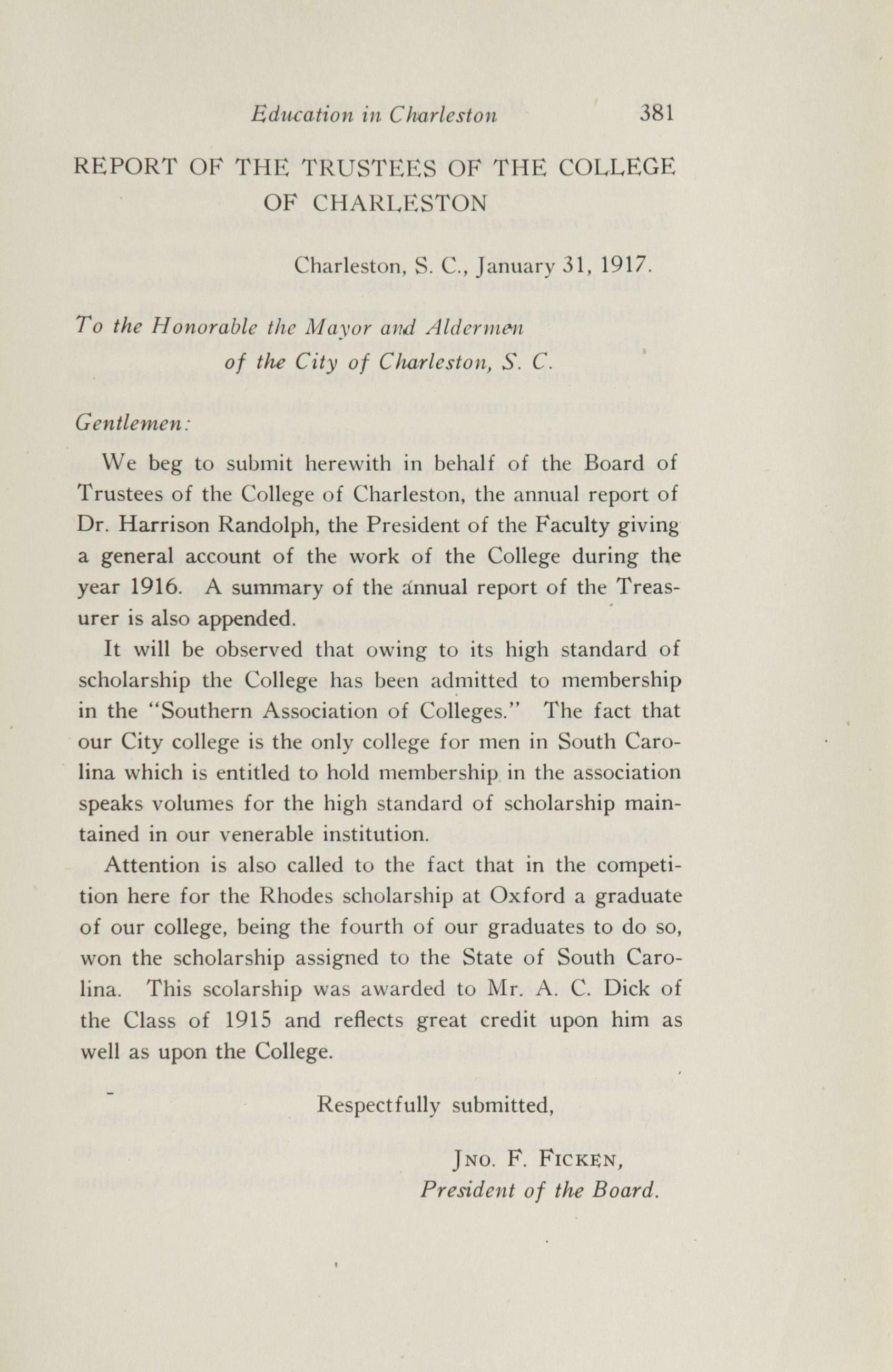 Charleston Yearbook, 1916, page 381