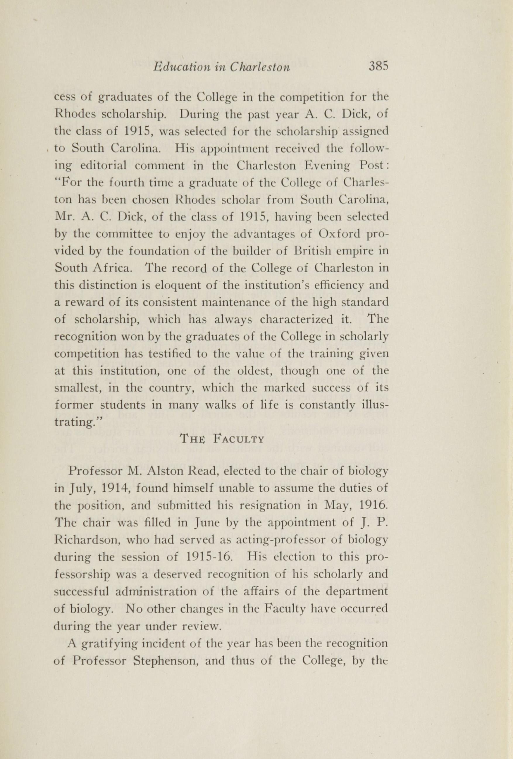 Charleston Yearbook, 1916, page 385