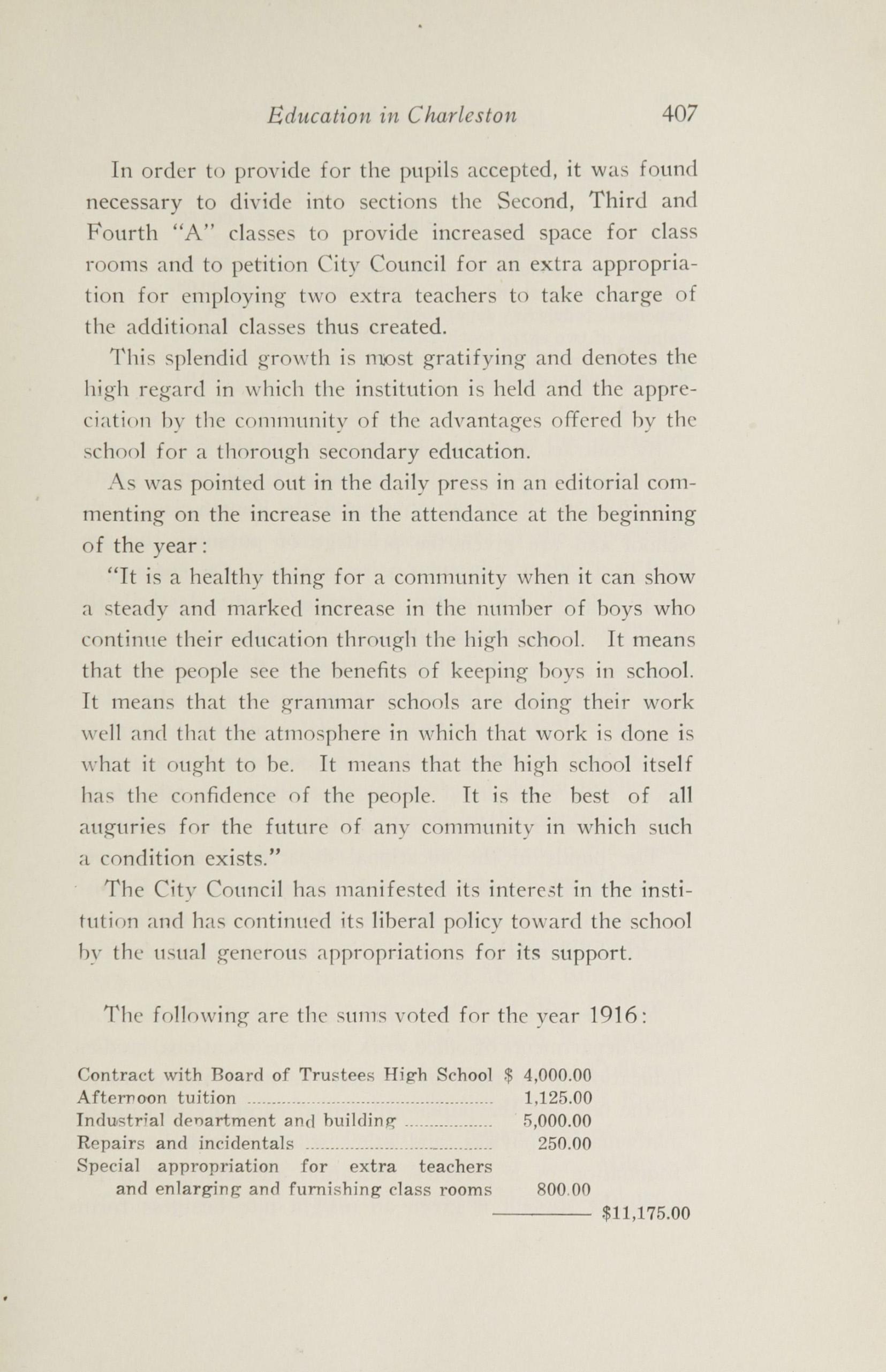 Charleston Yearbook, 1916, page 407