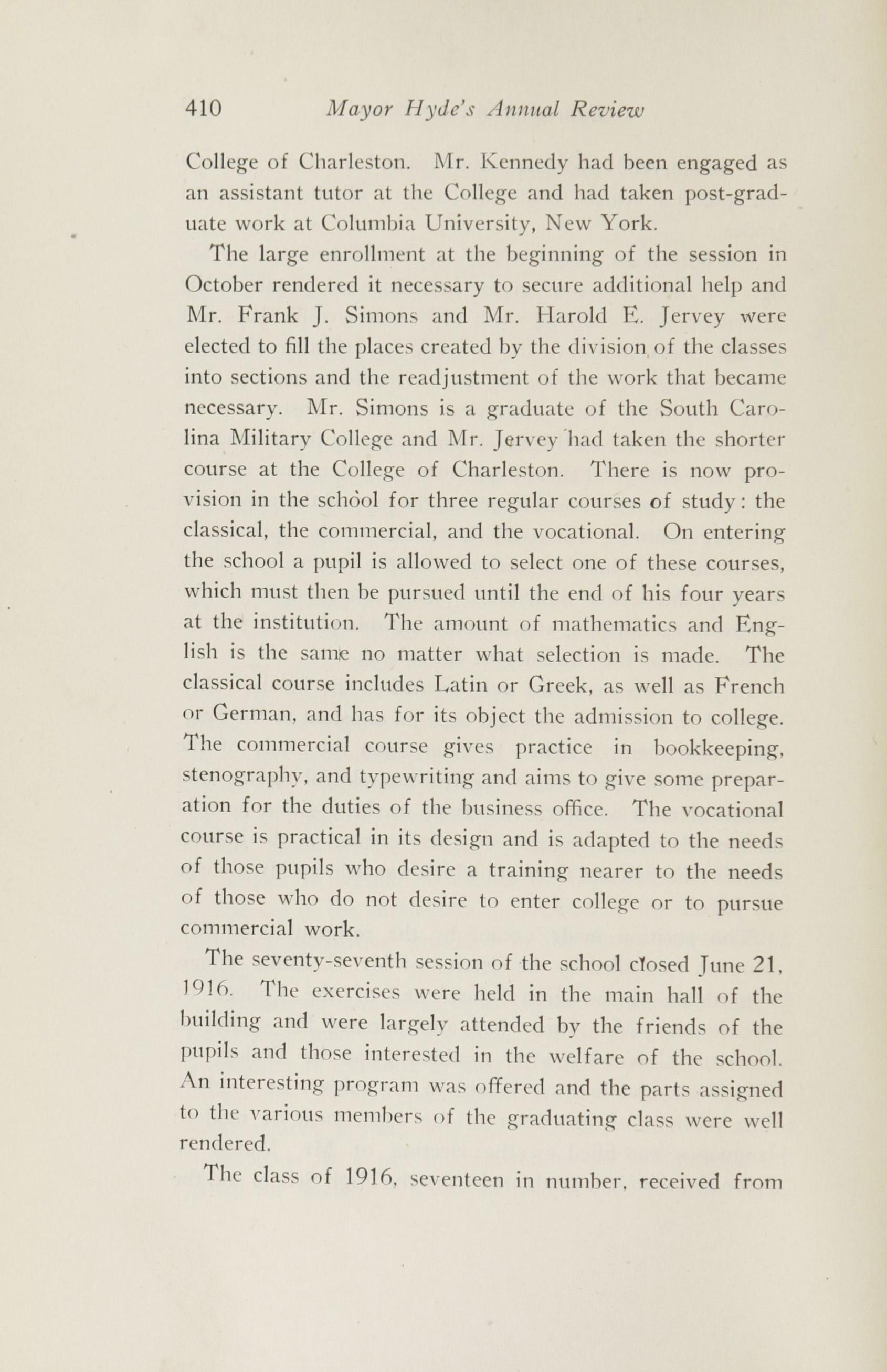 Charleston Yearbook, 1916, page 410
