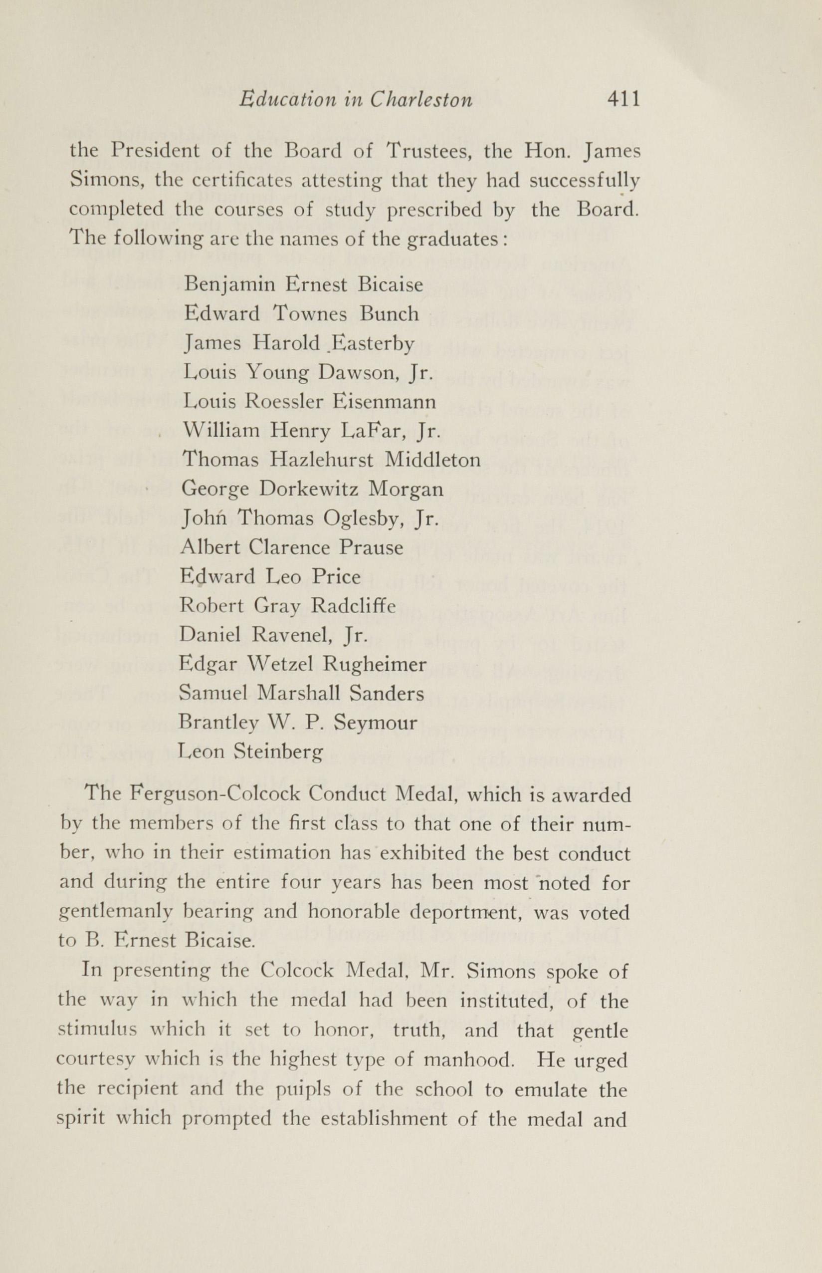Charleston Yearbook, 1916, page 411
