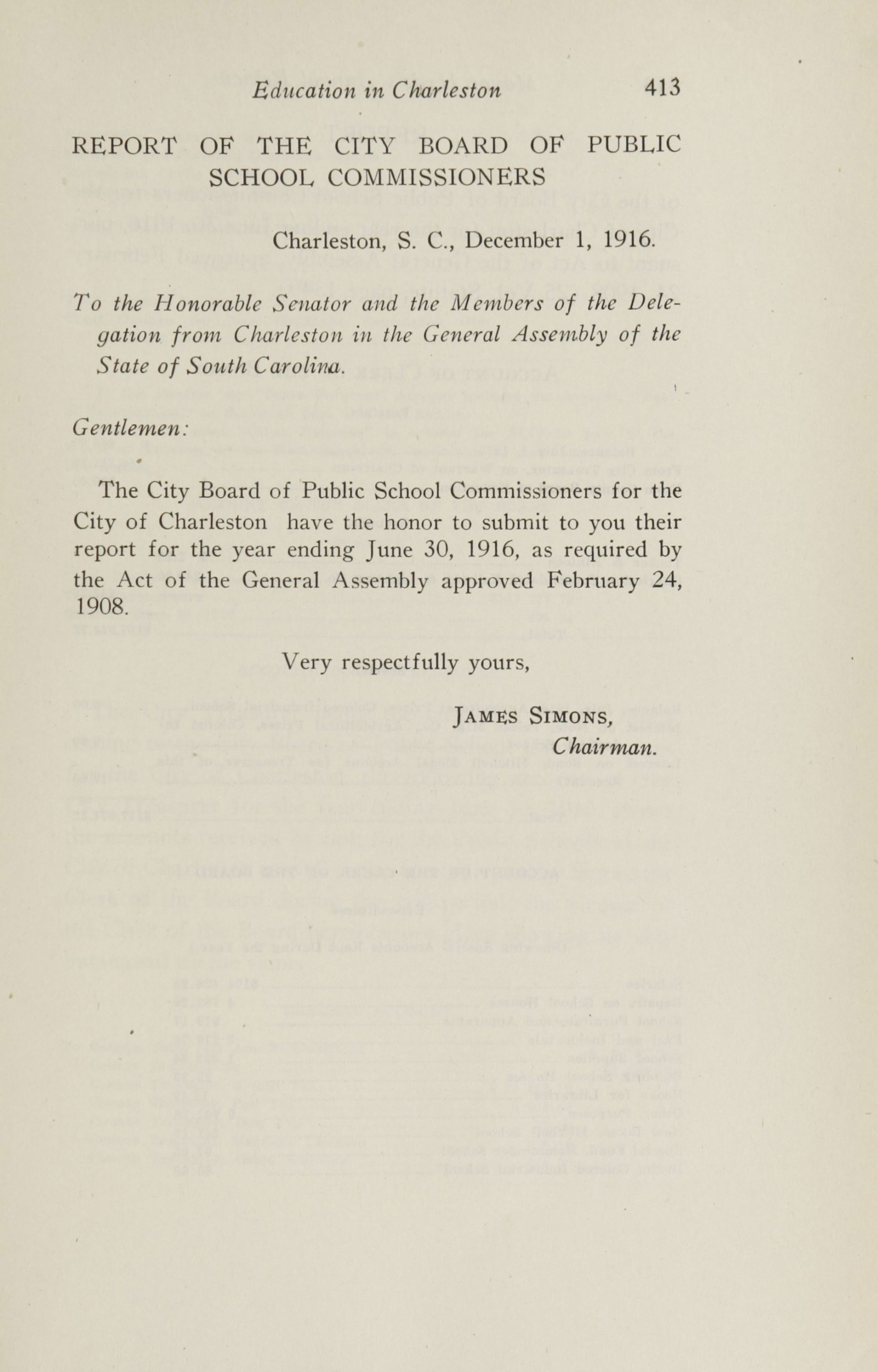 Charleston Yearbook, 1916, page 413