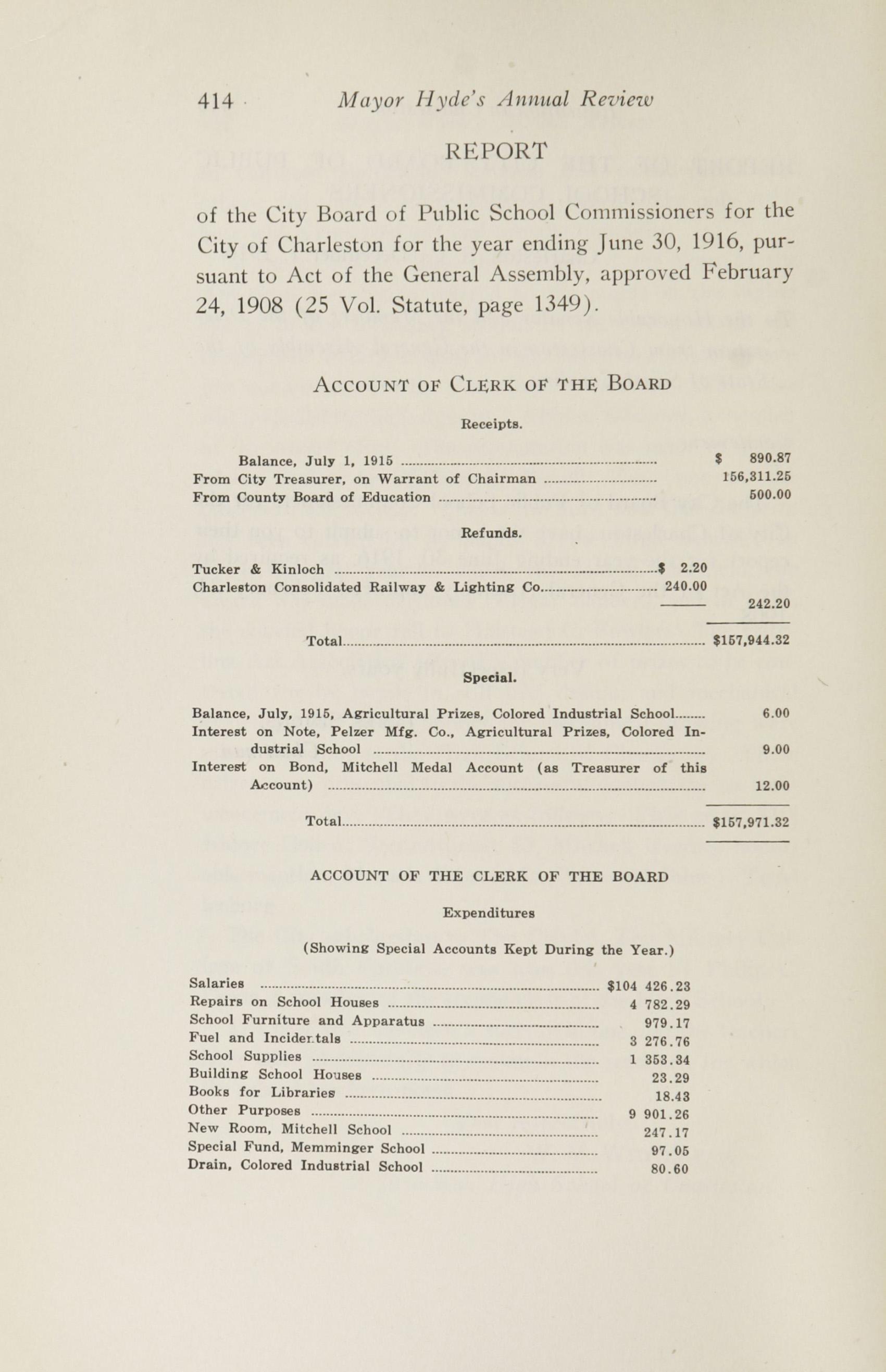Charleston Yearbook, 1916, page 414