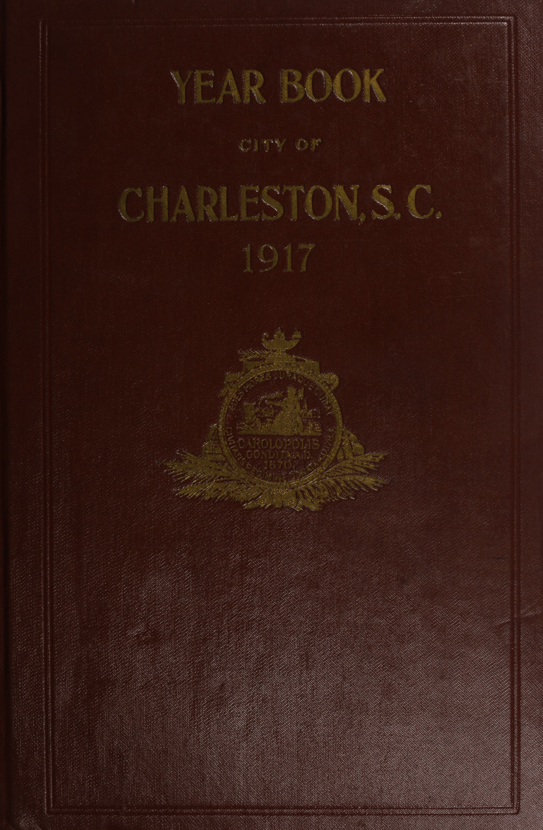 Charleston Yearbook, 1917, cover