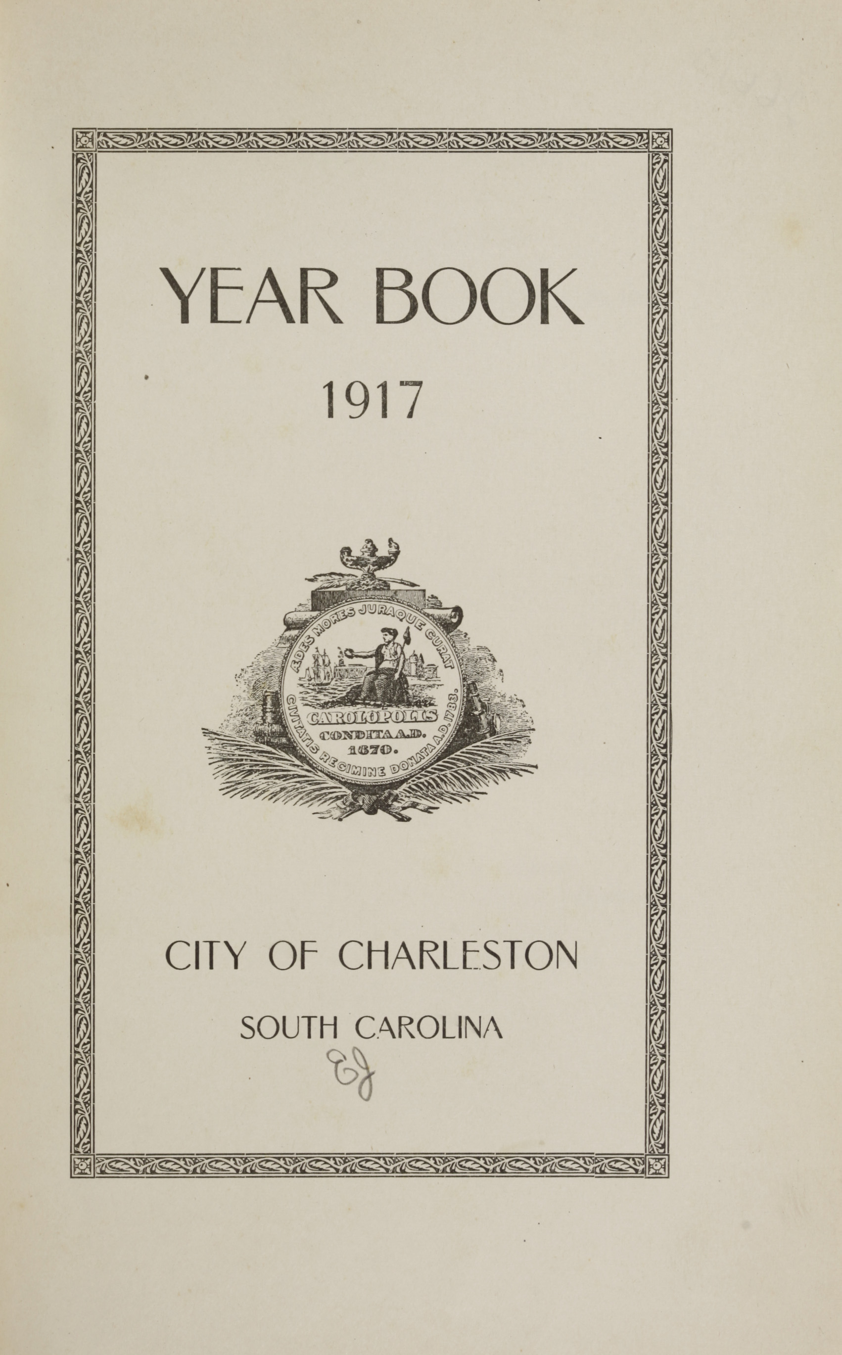 Charleston Yearbook, 1917, page i