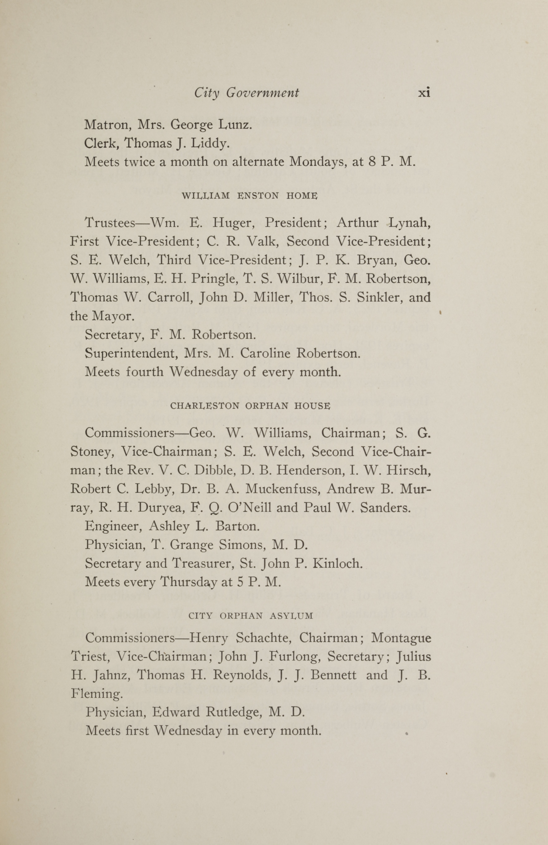 Charleston Yearbook, 1917, page xi