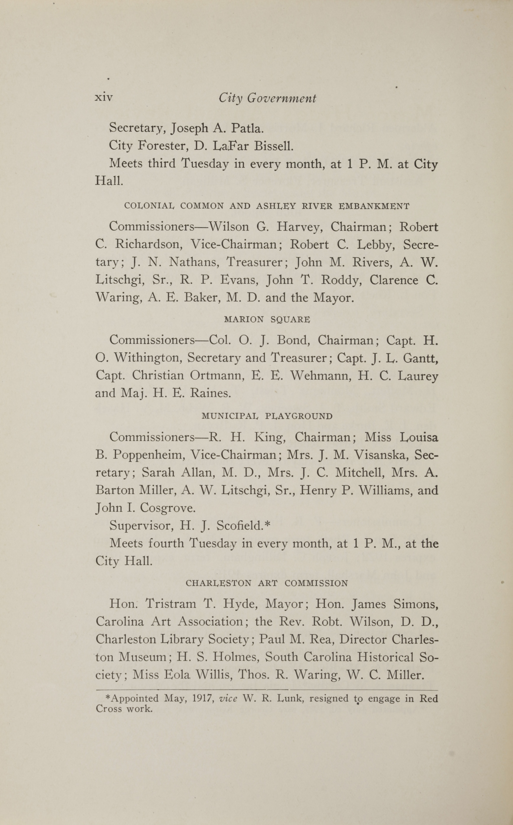 Charleston Yearbook, 1917, page xiv