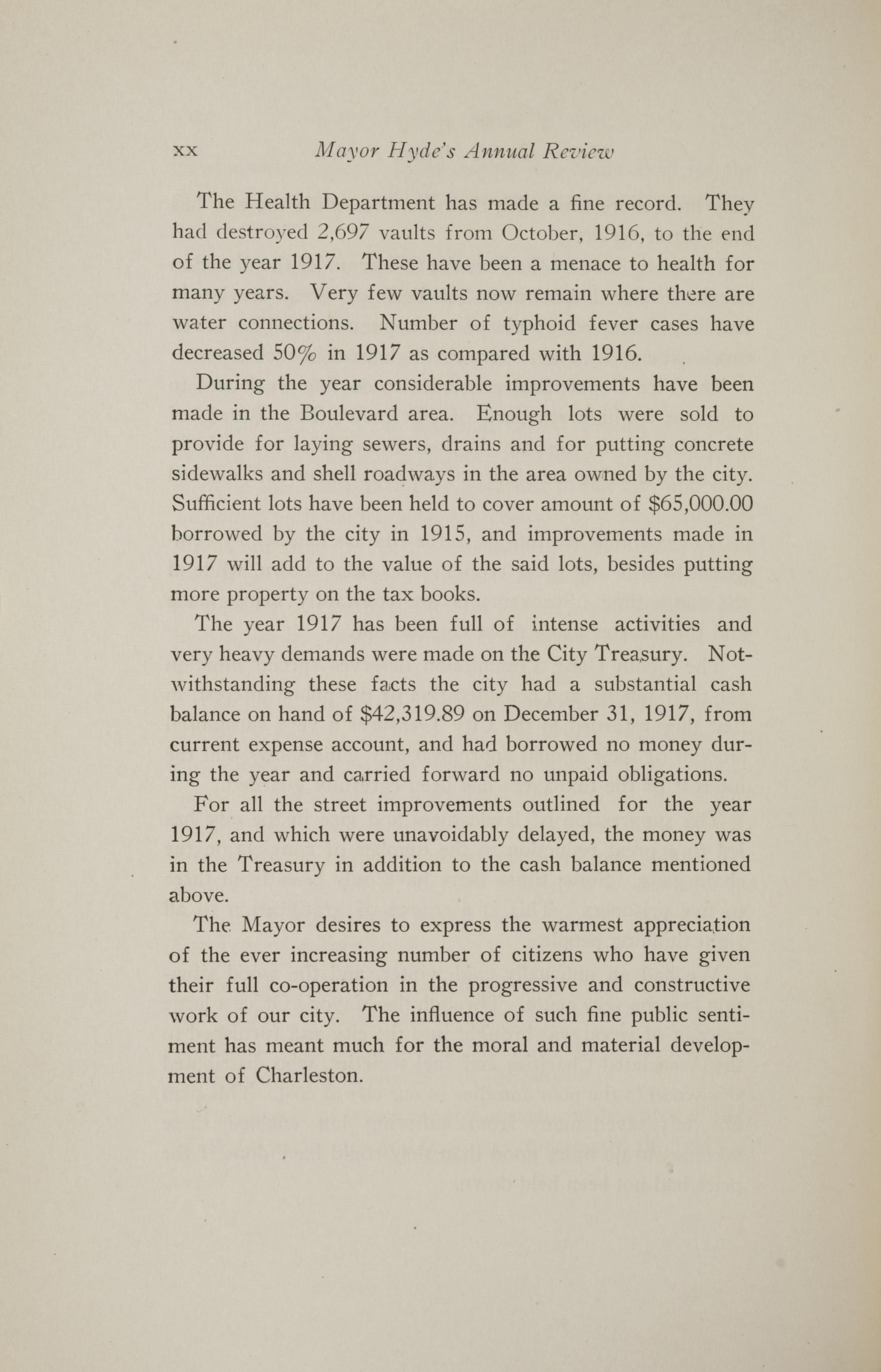 Charleston Yearbook, 1917, page xx