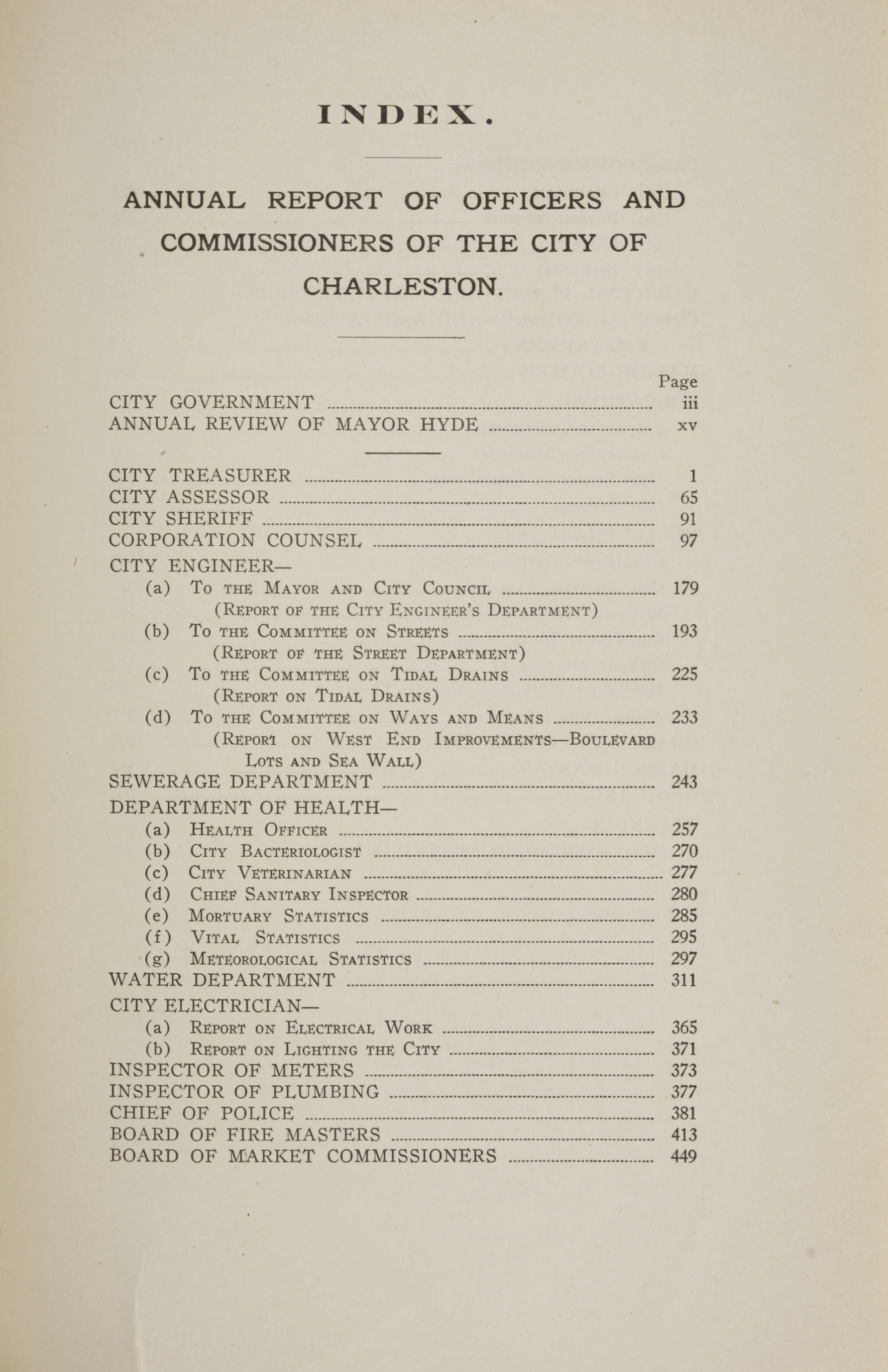 Charleston Yearbook, 1917, page xxi