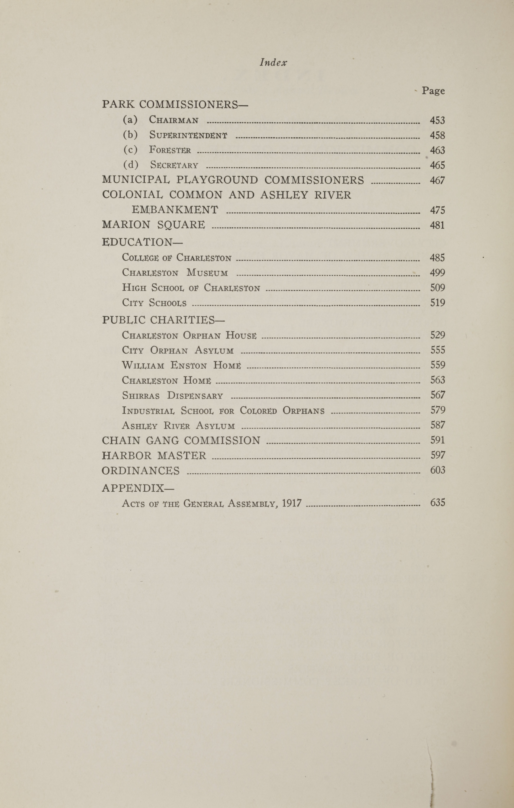 Charleston Yearbook, 1917, page xxii