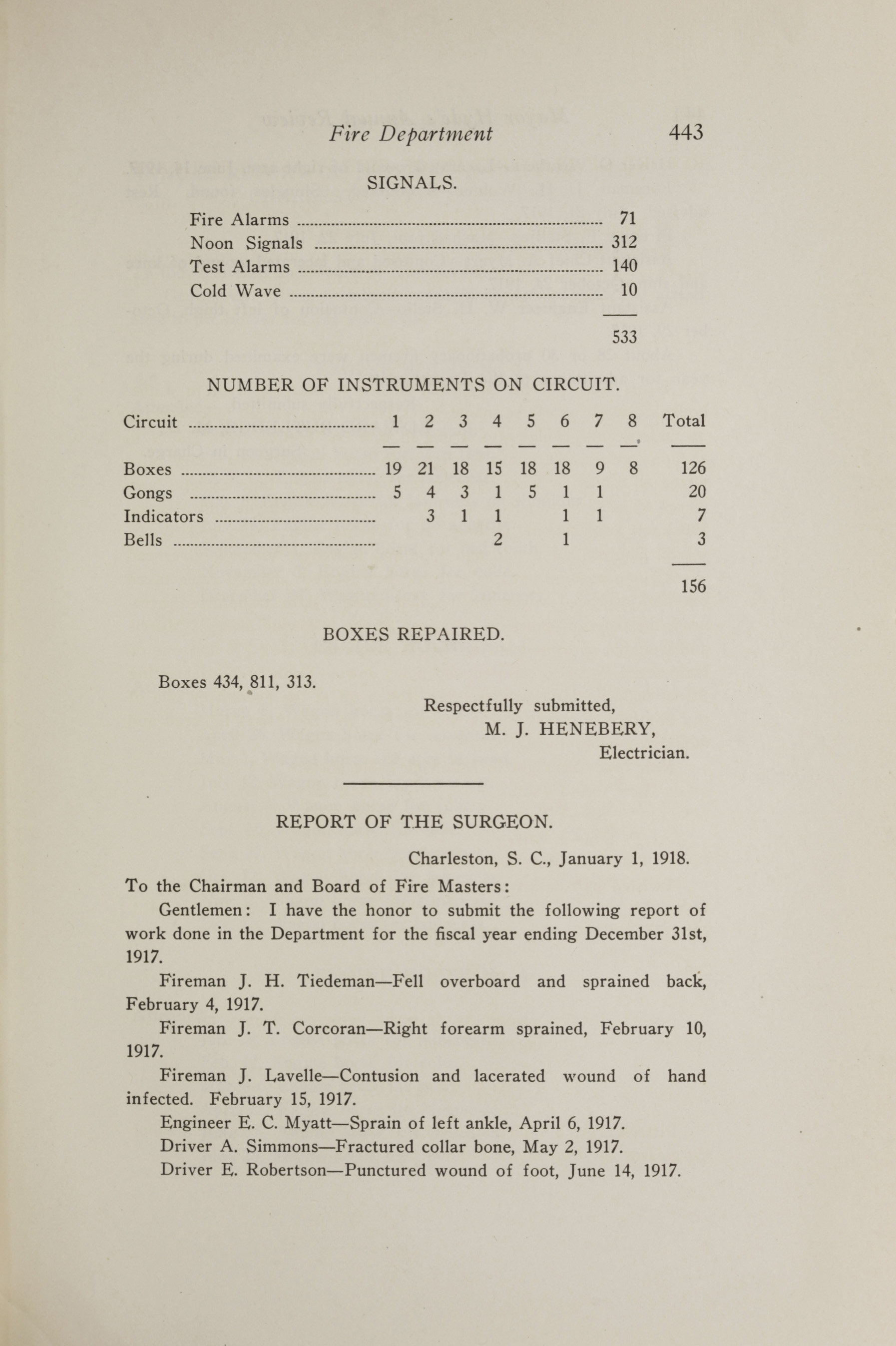 Charleston Yearbook, 1917, page 443