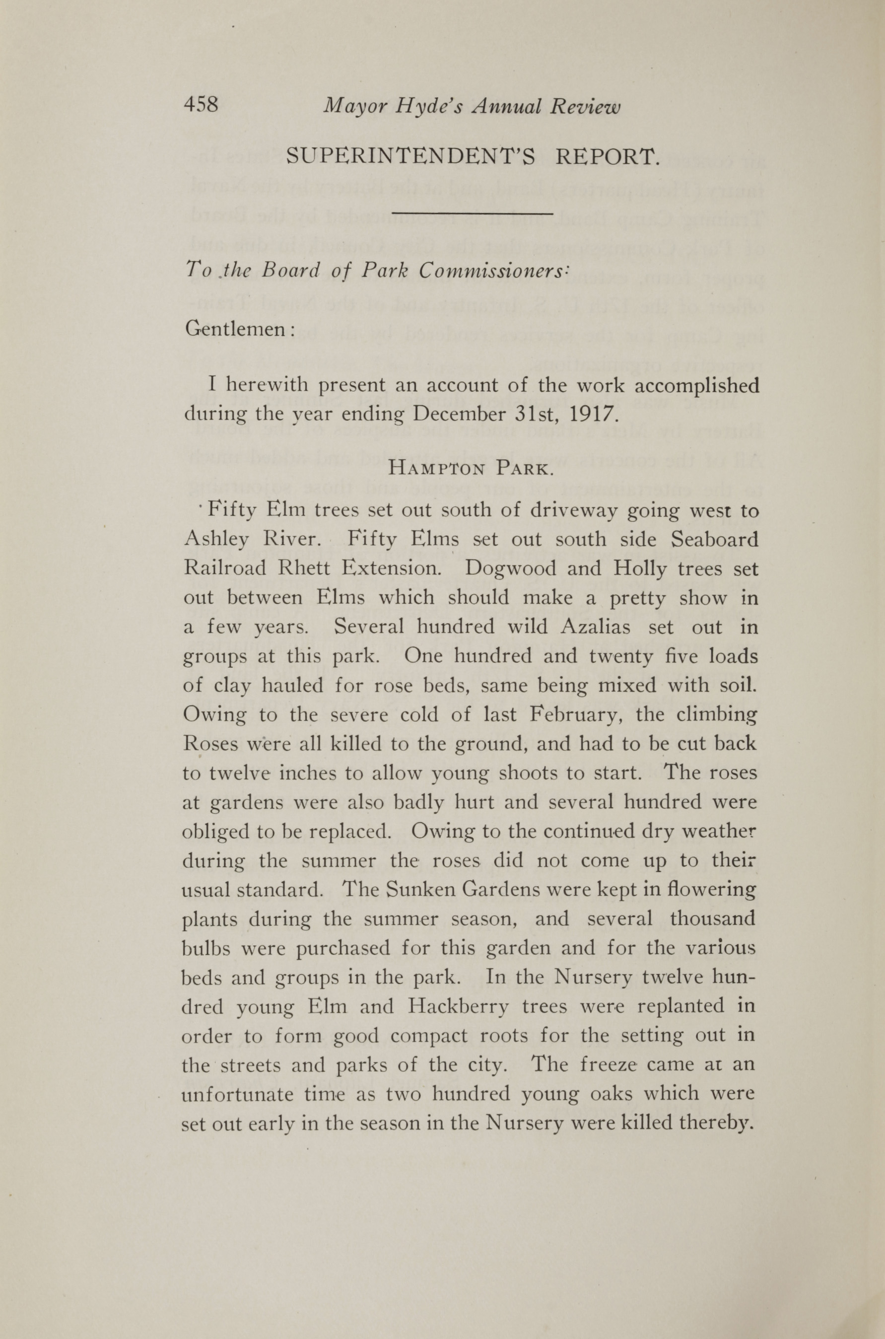 Charleston Yearbook, 1917, page 458