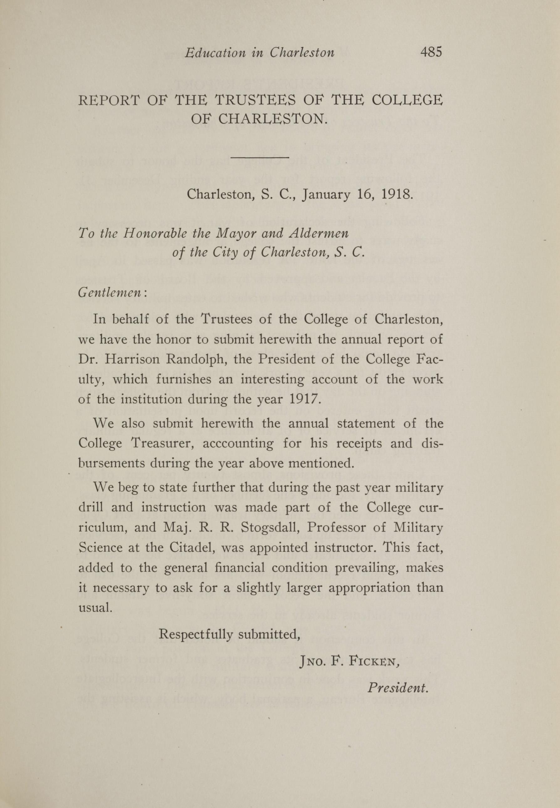 Charleston Yearbook, 1917, page 485
