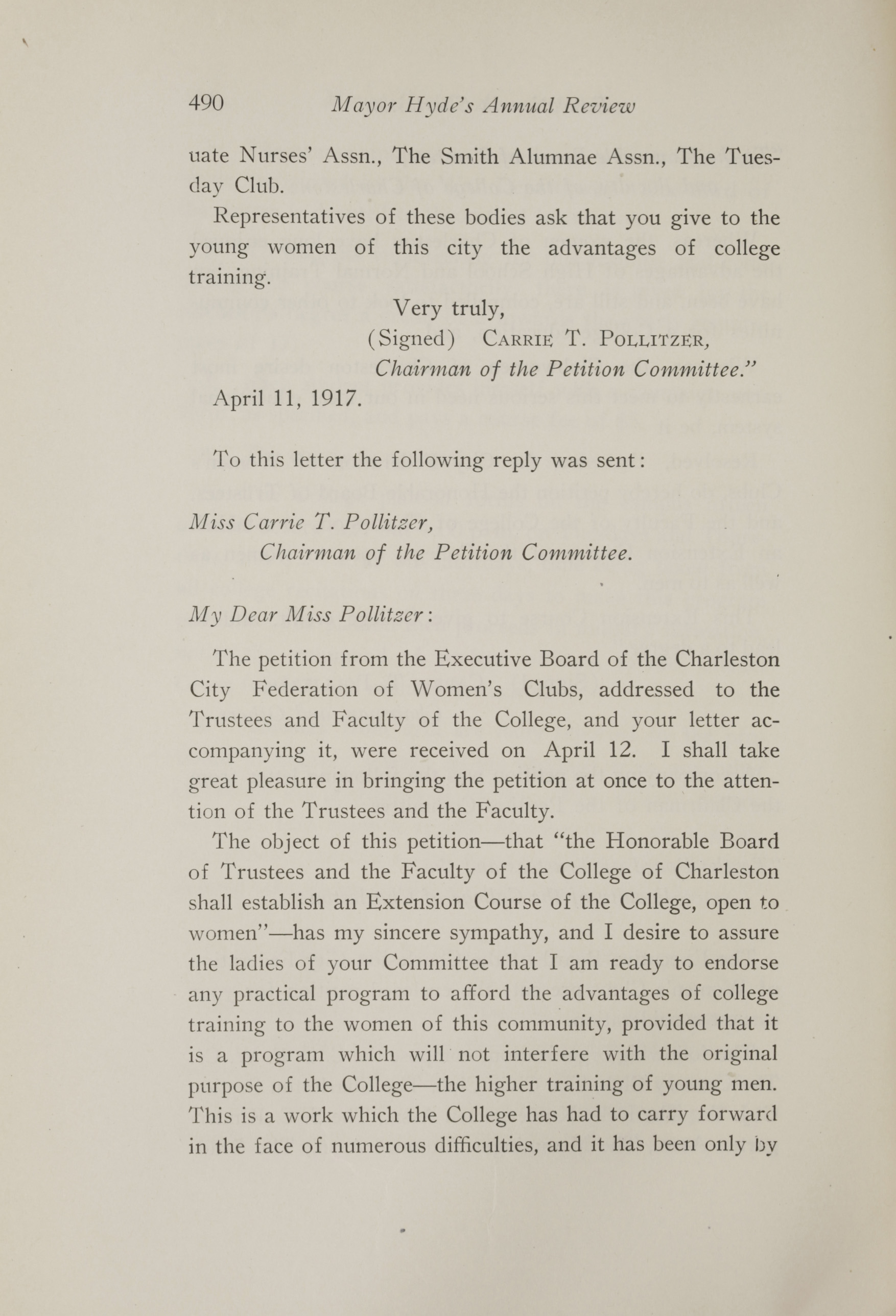 Charleston Yearbook, 1917, page 490