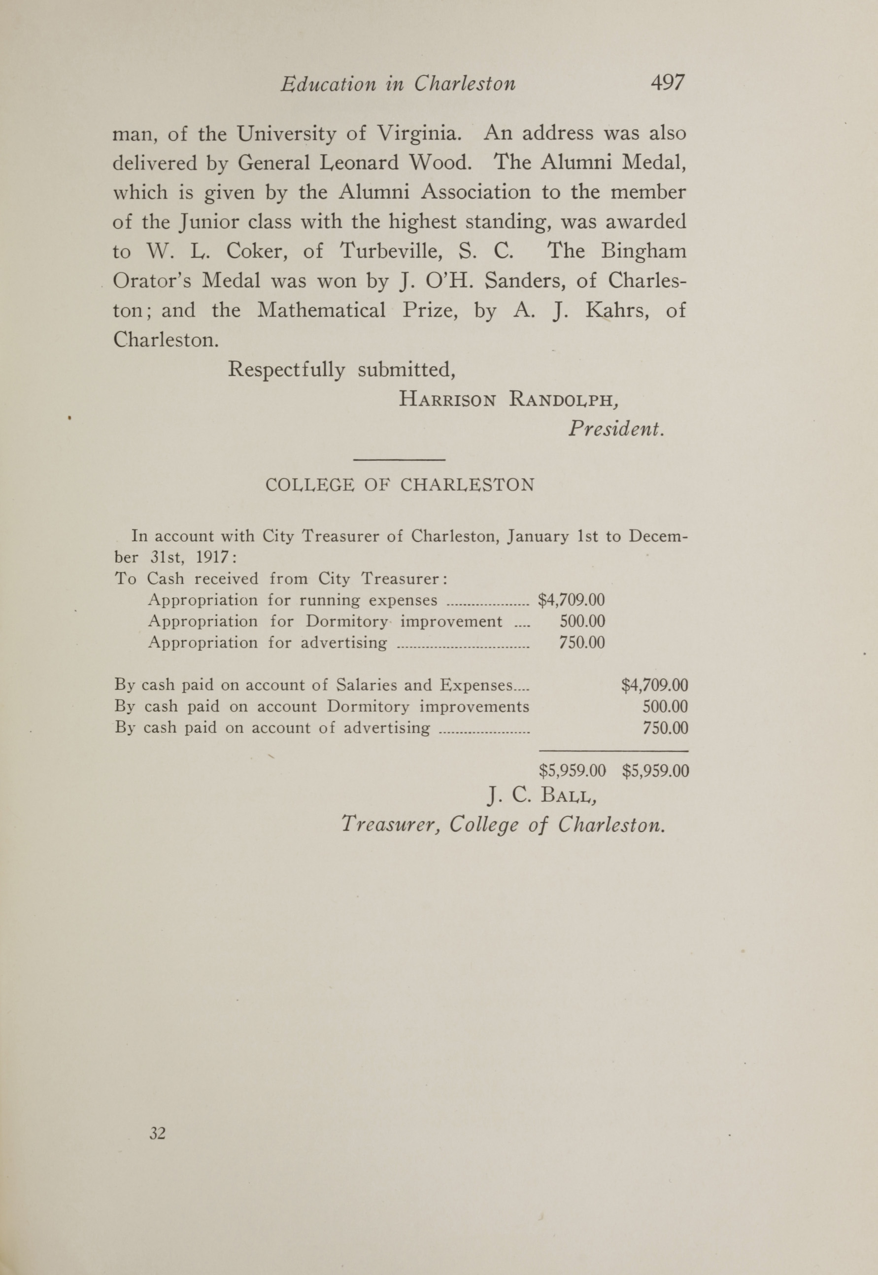 Charleston Yearbook, 1917, page 497