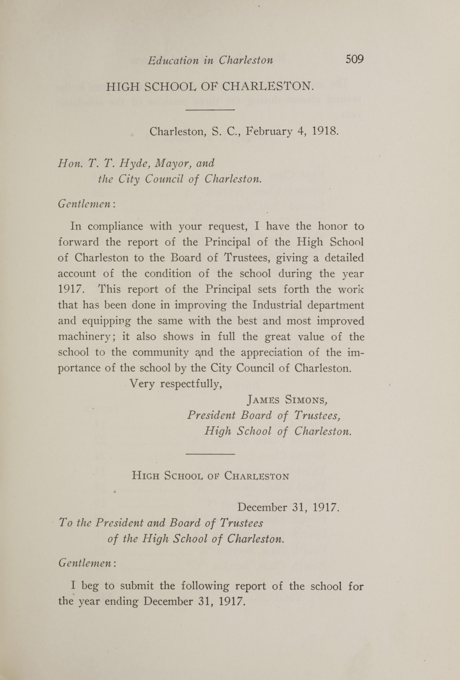 Charleston Yearbook, 1917, page 509