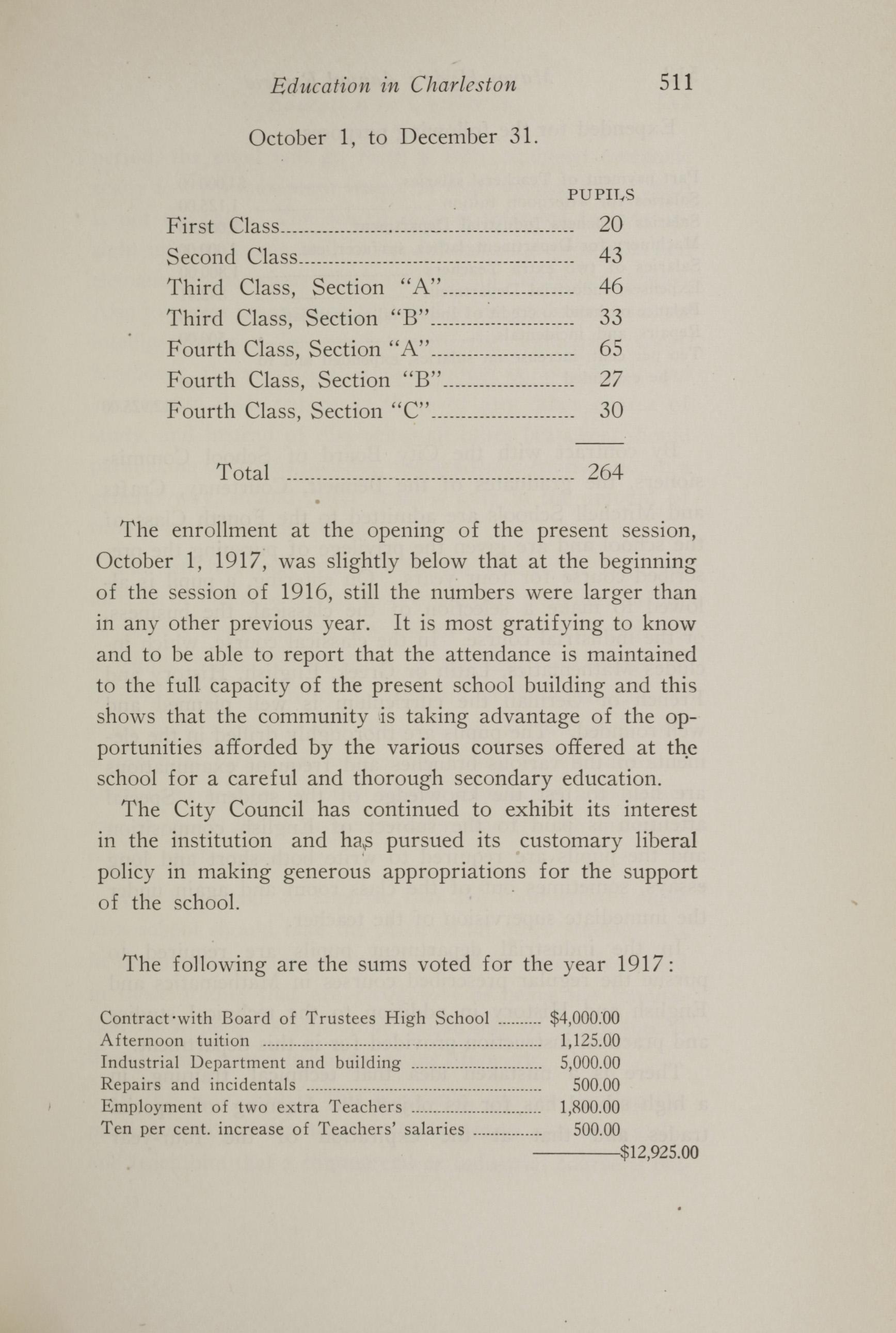 Charleston Yearbook, 1917, page 511