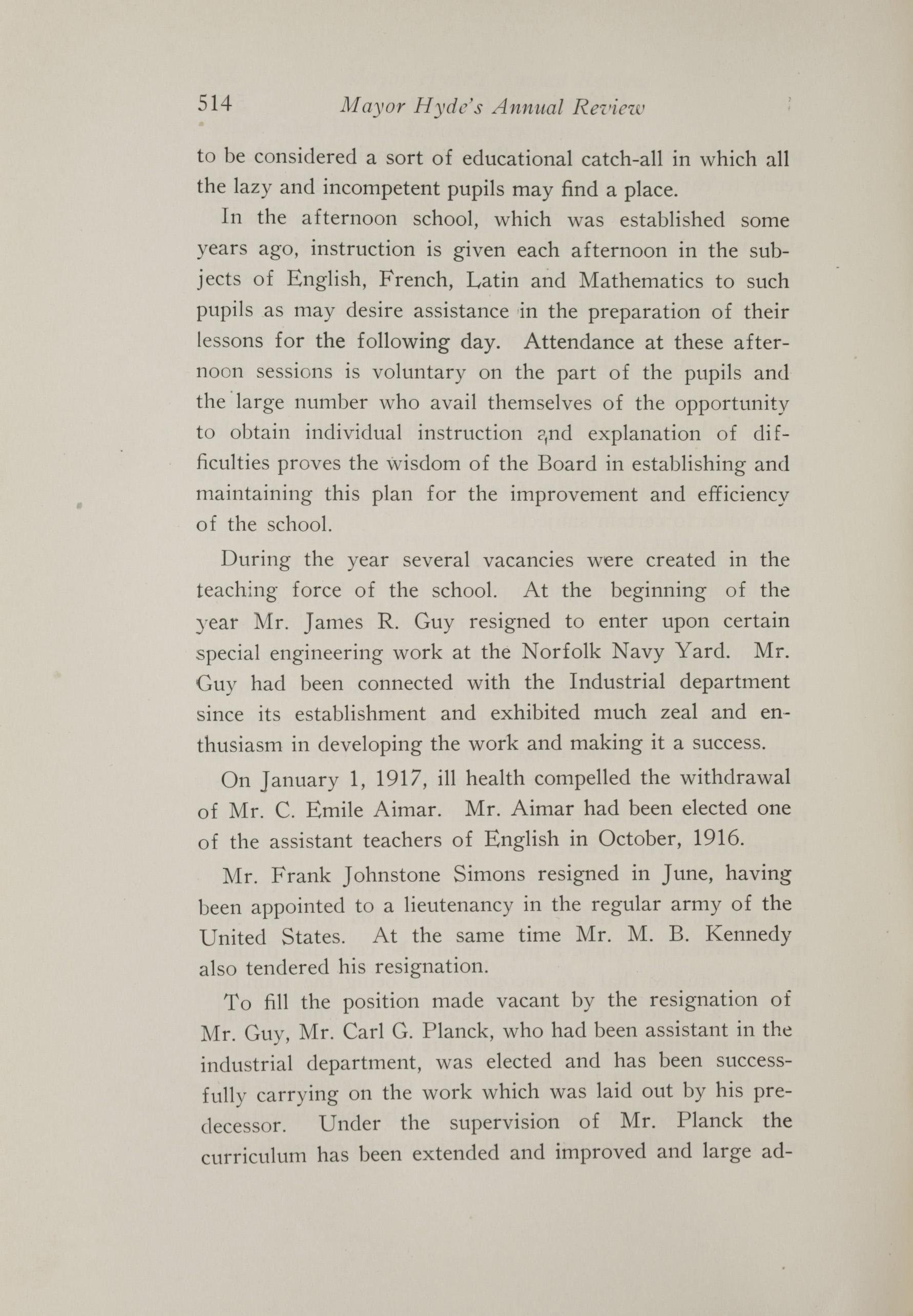 Charleston Yearbook, 1917, page 514