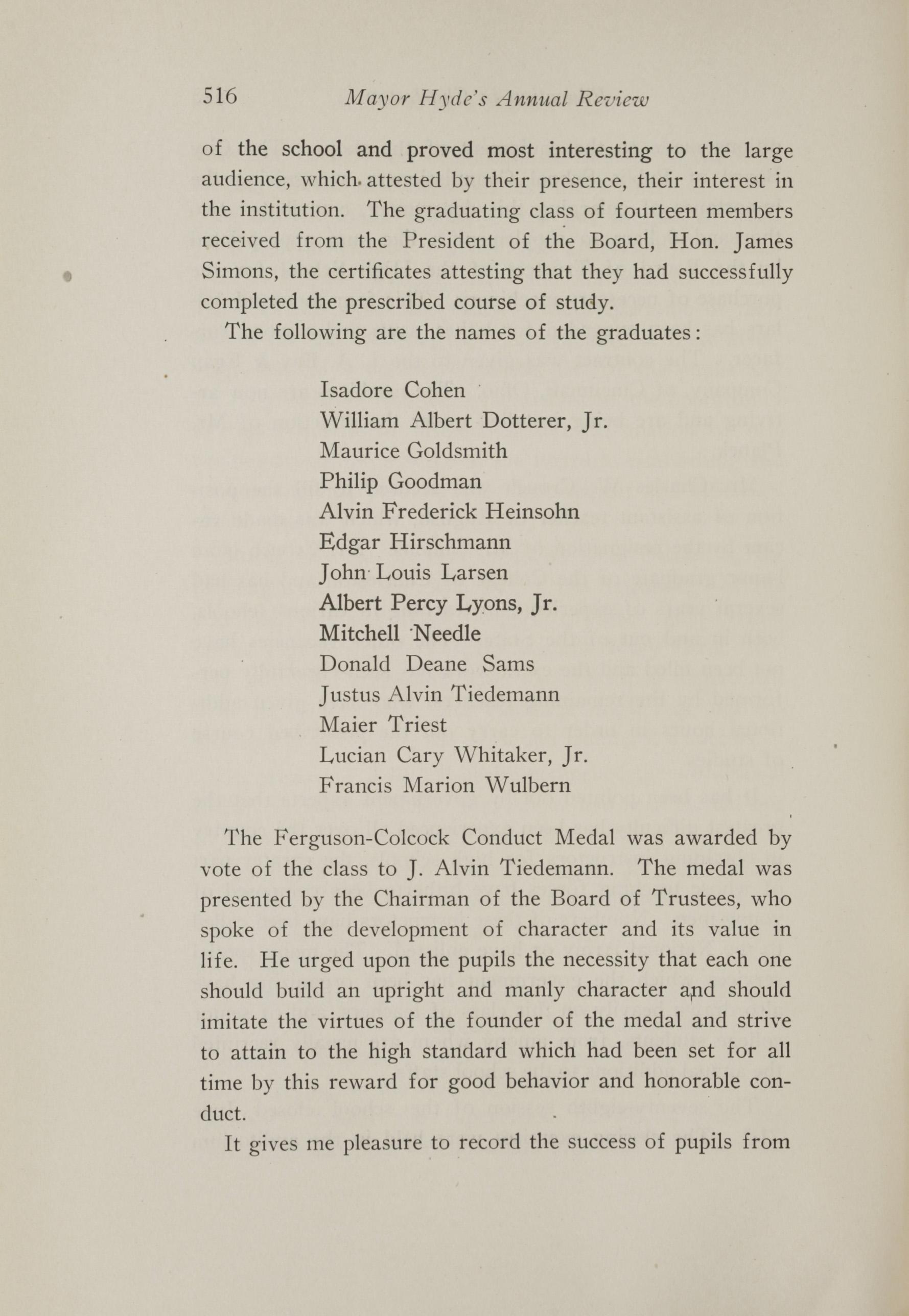 Charleston Yearbook, 1917, page 516