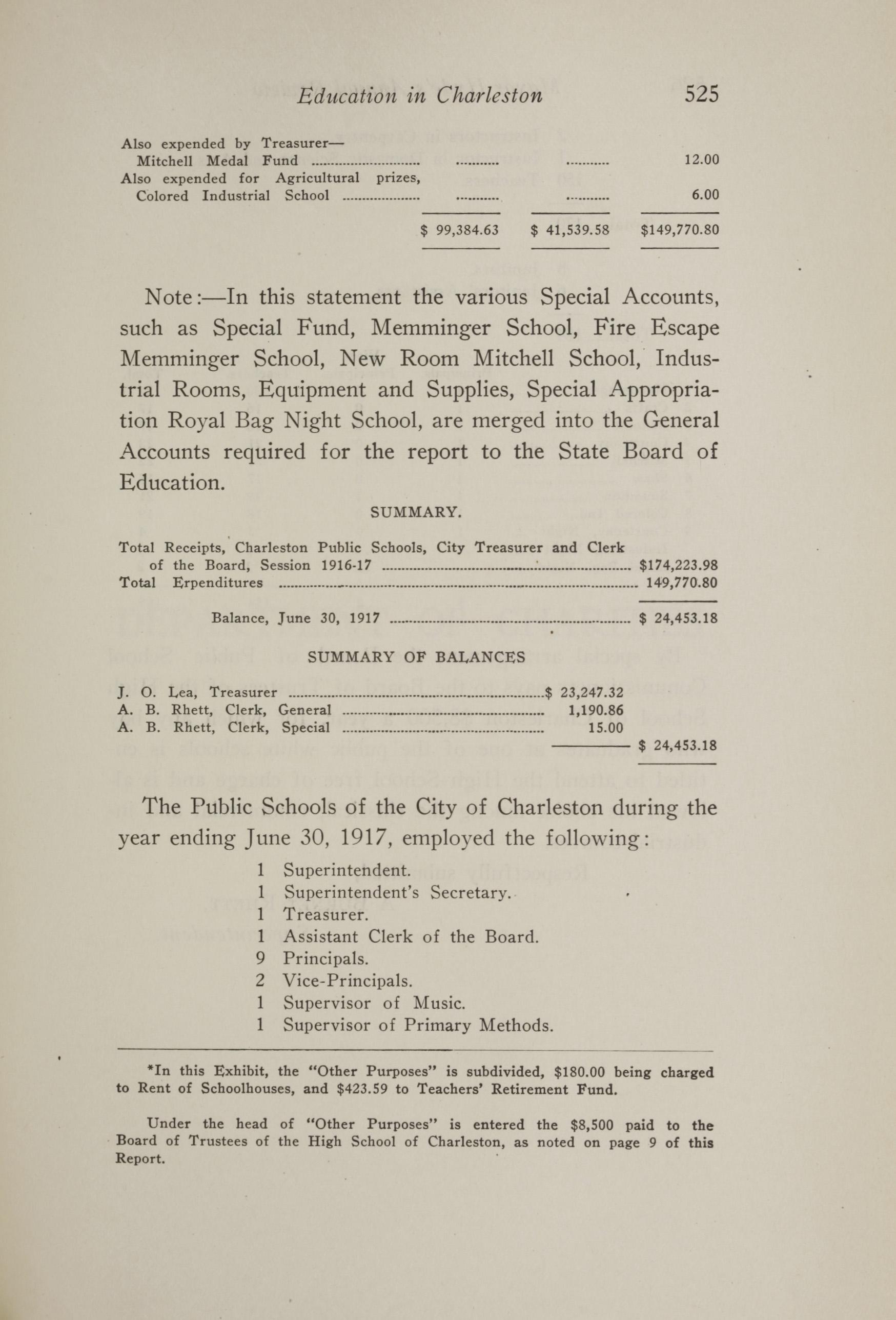 Charleston Yearbook, 1917, page 525