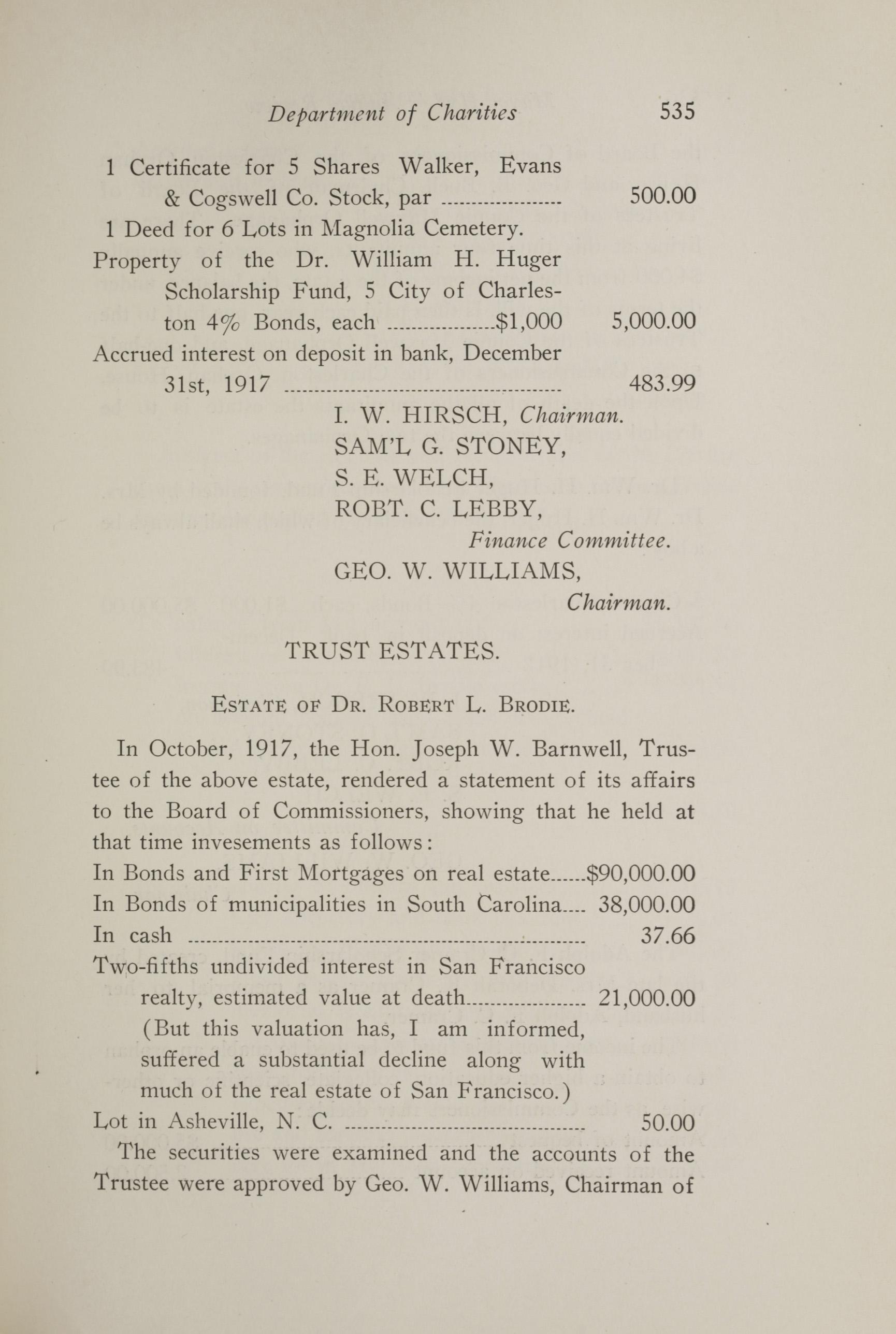 Charleston Yearbook, 1917, page 535
