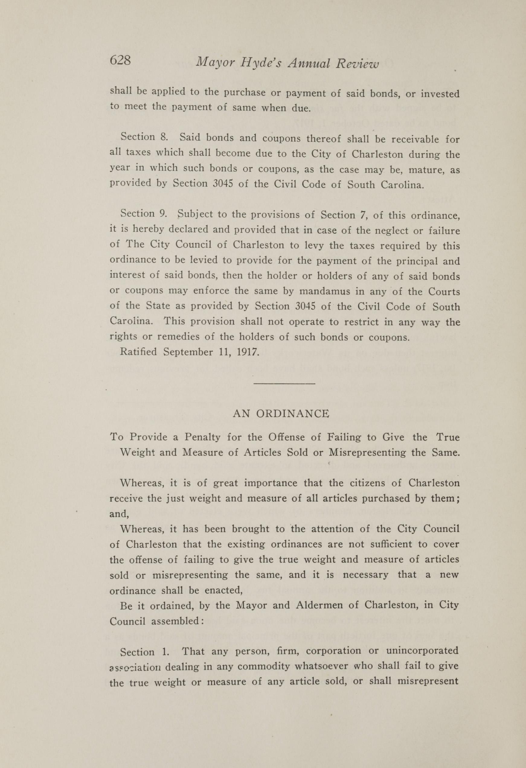 Charleston Yearbook, 1917, page 628