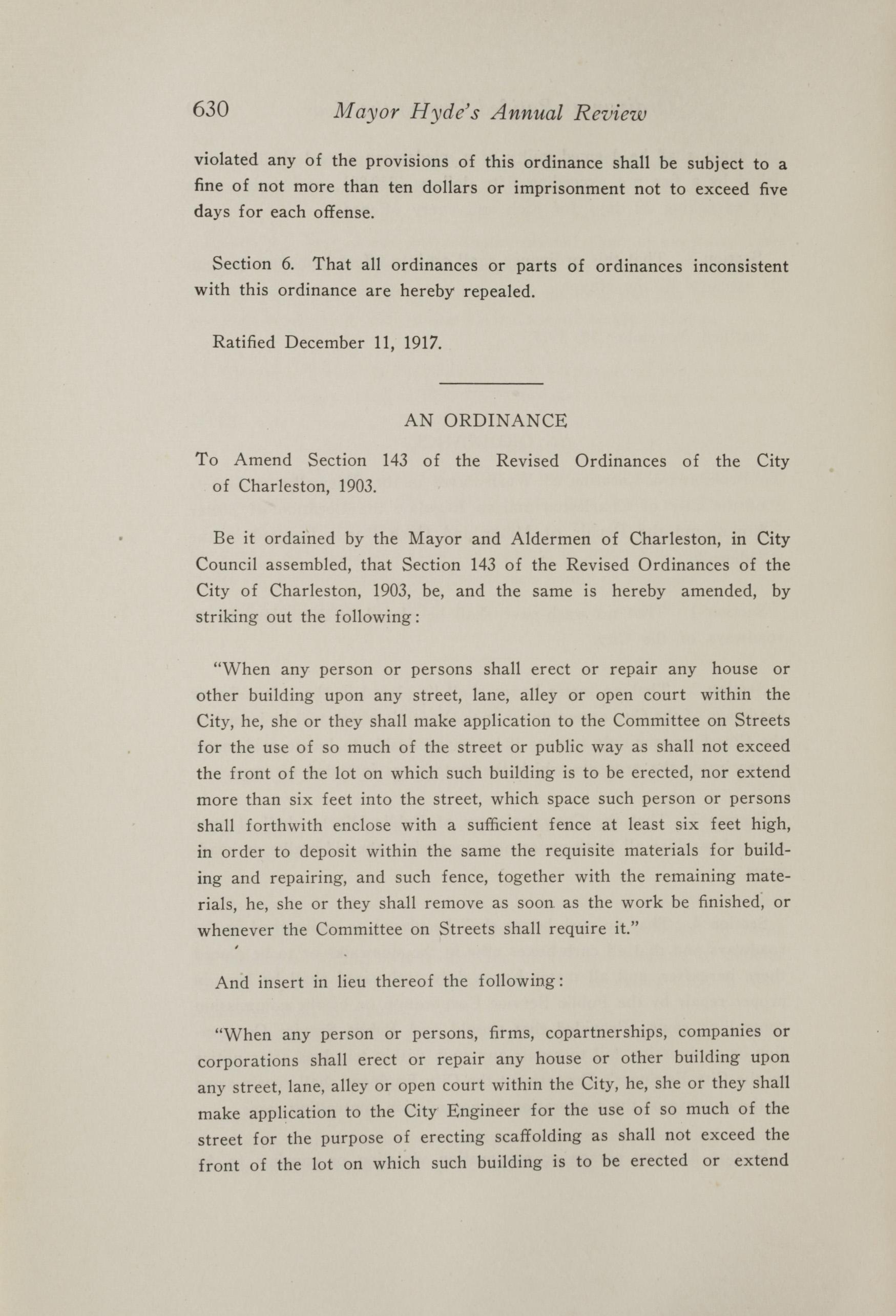 Charleston Yearbook, 1917, page 630
