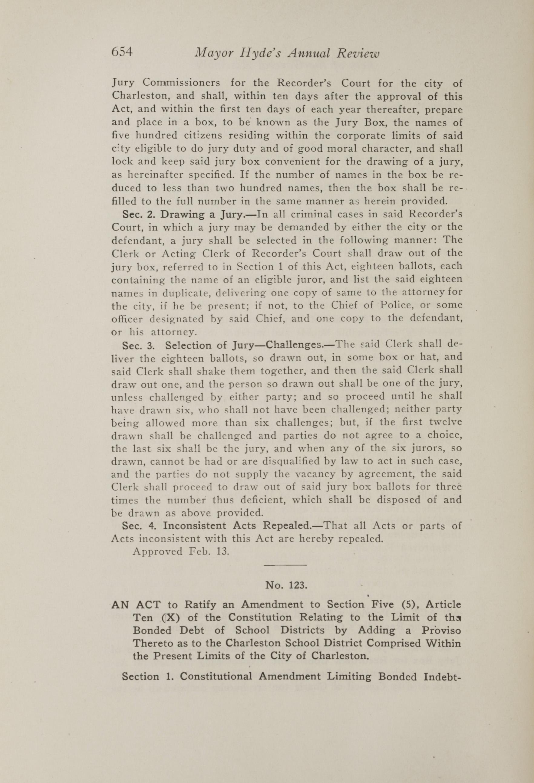 Charleston Yearbook, 1917, page 654